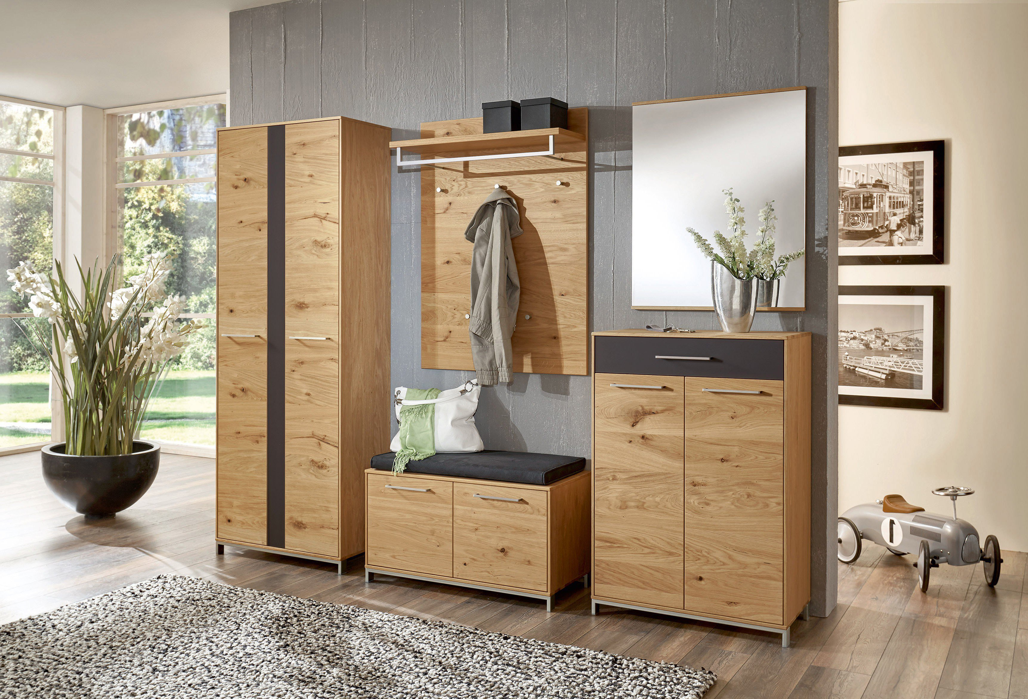 voss garderobe vedo eiche anthrazit m bel letz ihr online shop. Black Bedroom Furniture Sets. Home Design Ideas