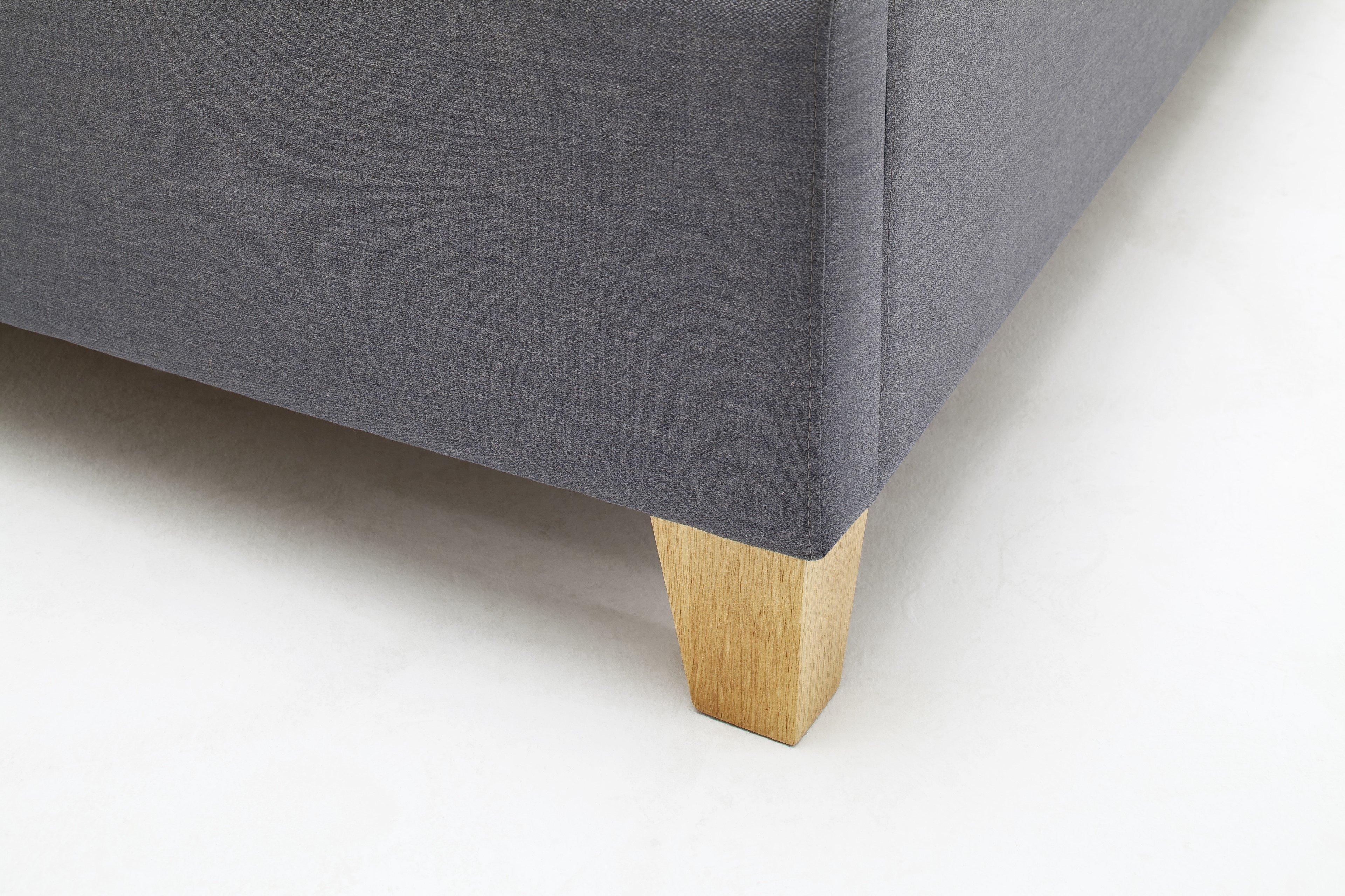 meise polsterbett lucca in grau mit eichefarbigen. Black Bedroom Furniture Sets. Home Design Ideas