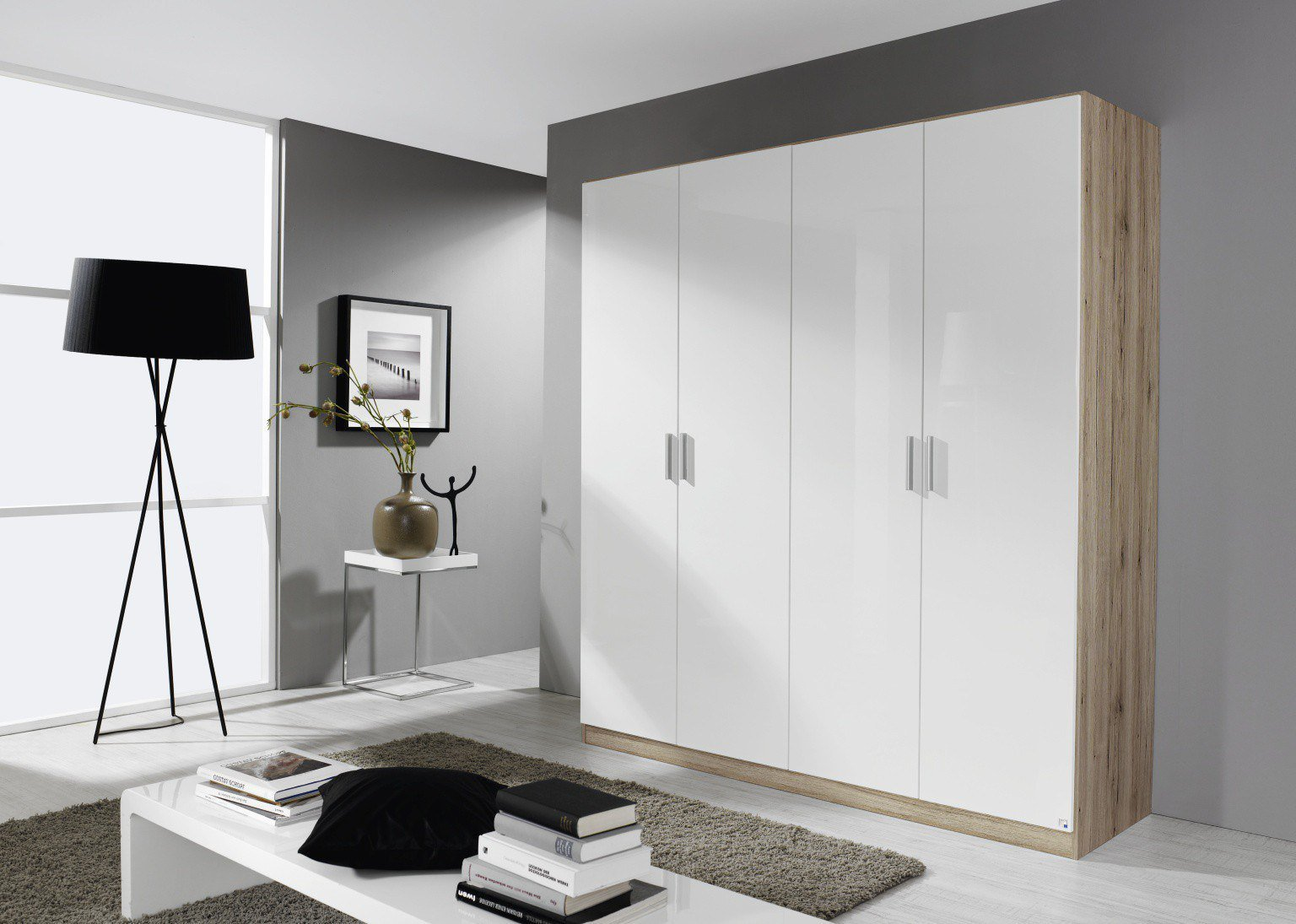 rauch celle schrank eiche sanremo wei m bel letz ihr online shop. Black Bedroom Furniture Sets. Home Design Ideas