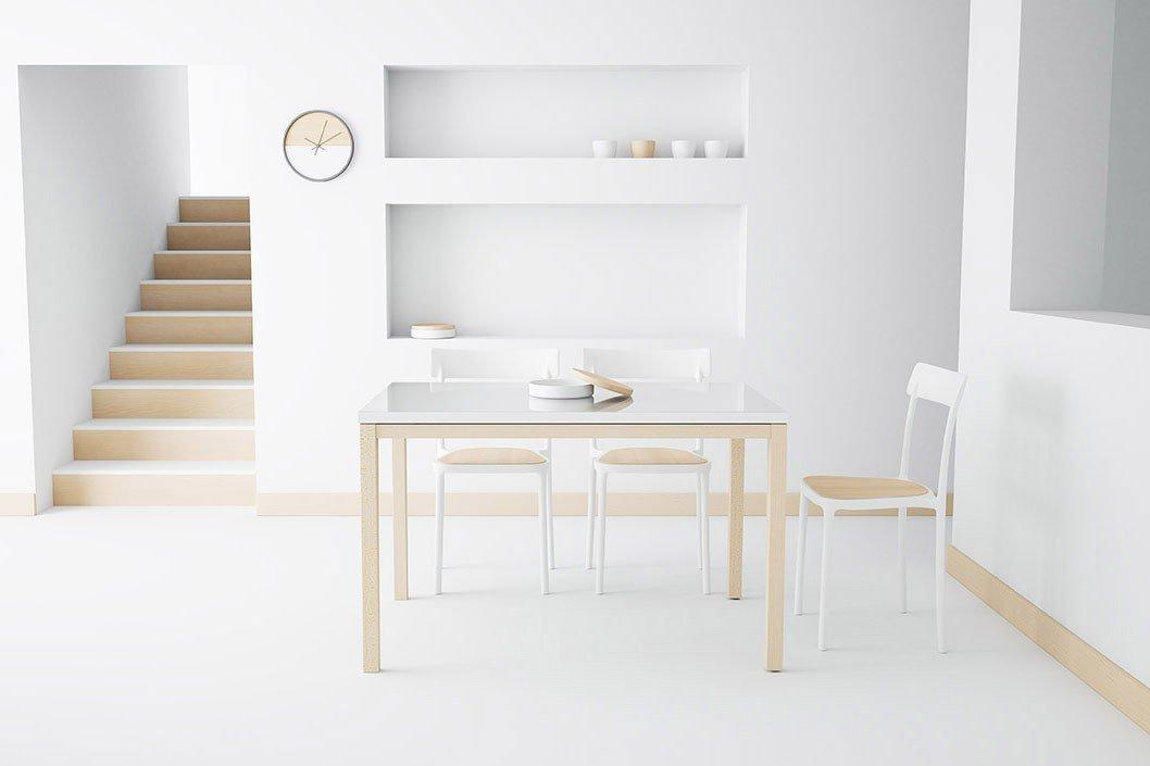 Esstisch Toy weiß/ Buche hell von CANCIO | Möbel Letz - Ihr Online-Shop