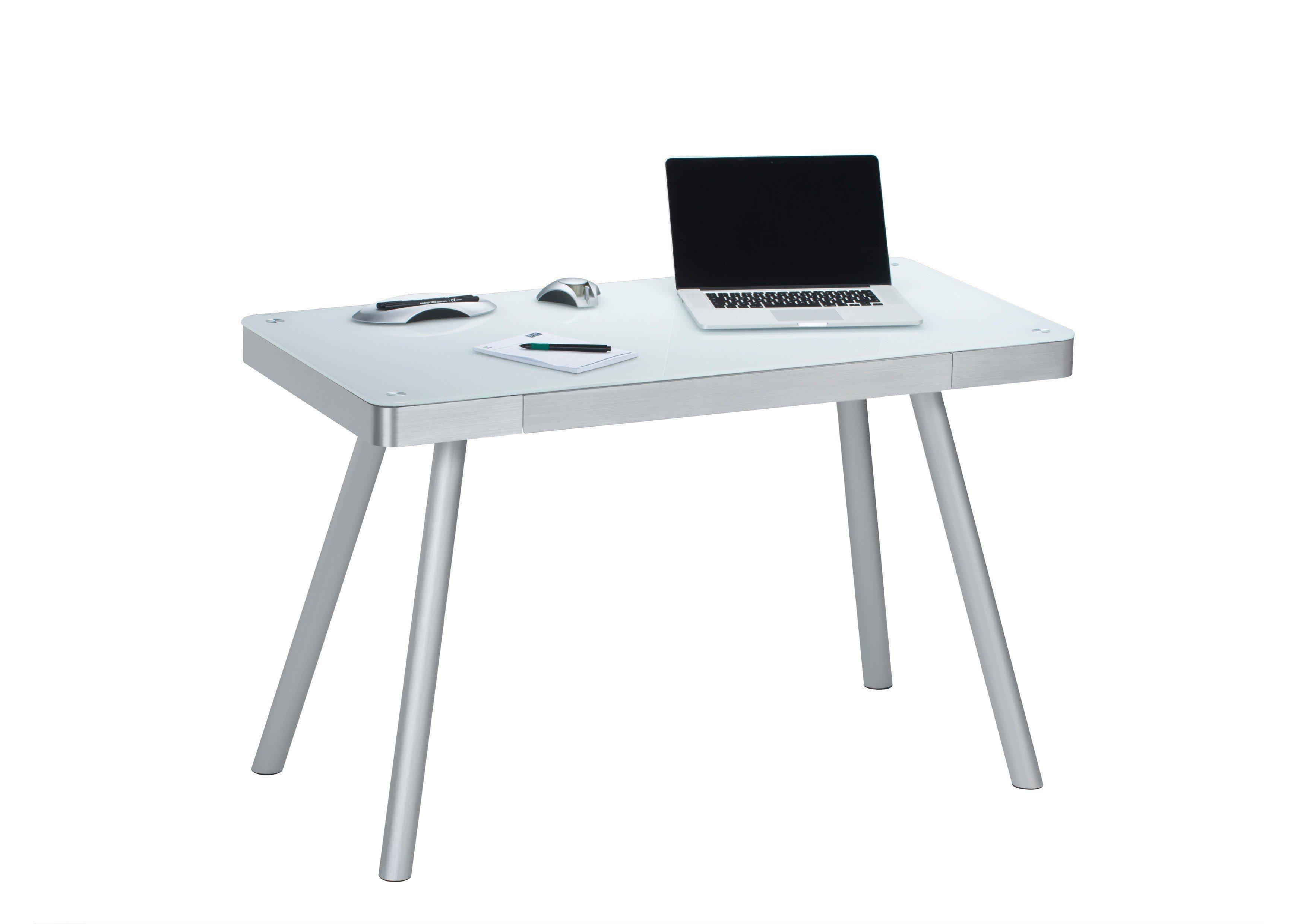 Designermöbel schreibtisch  Maja Schreibtisch 5000 Glas weiß| Möbel Letz - Ihr Online-Shop