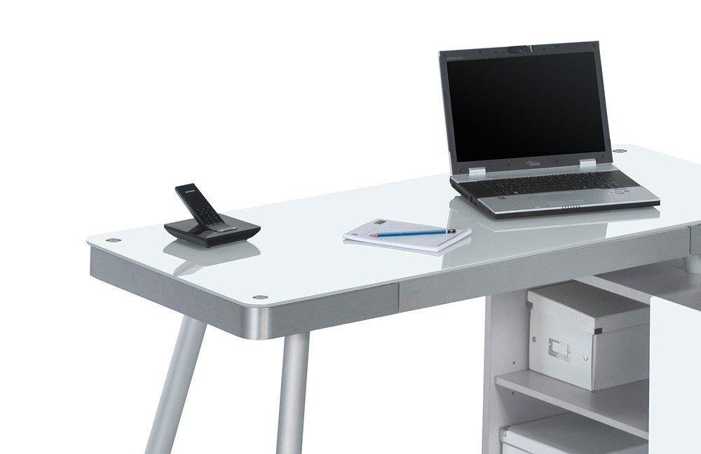 computer tisch 5005 von maja mabel computertisch alu weiaglas ikea mit rollen
