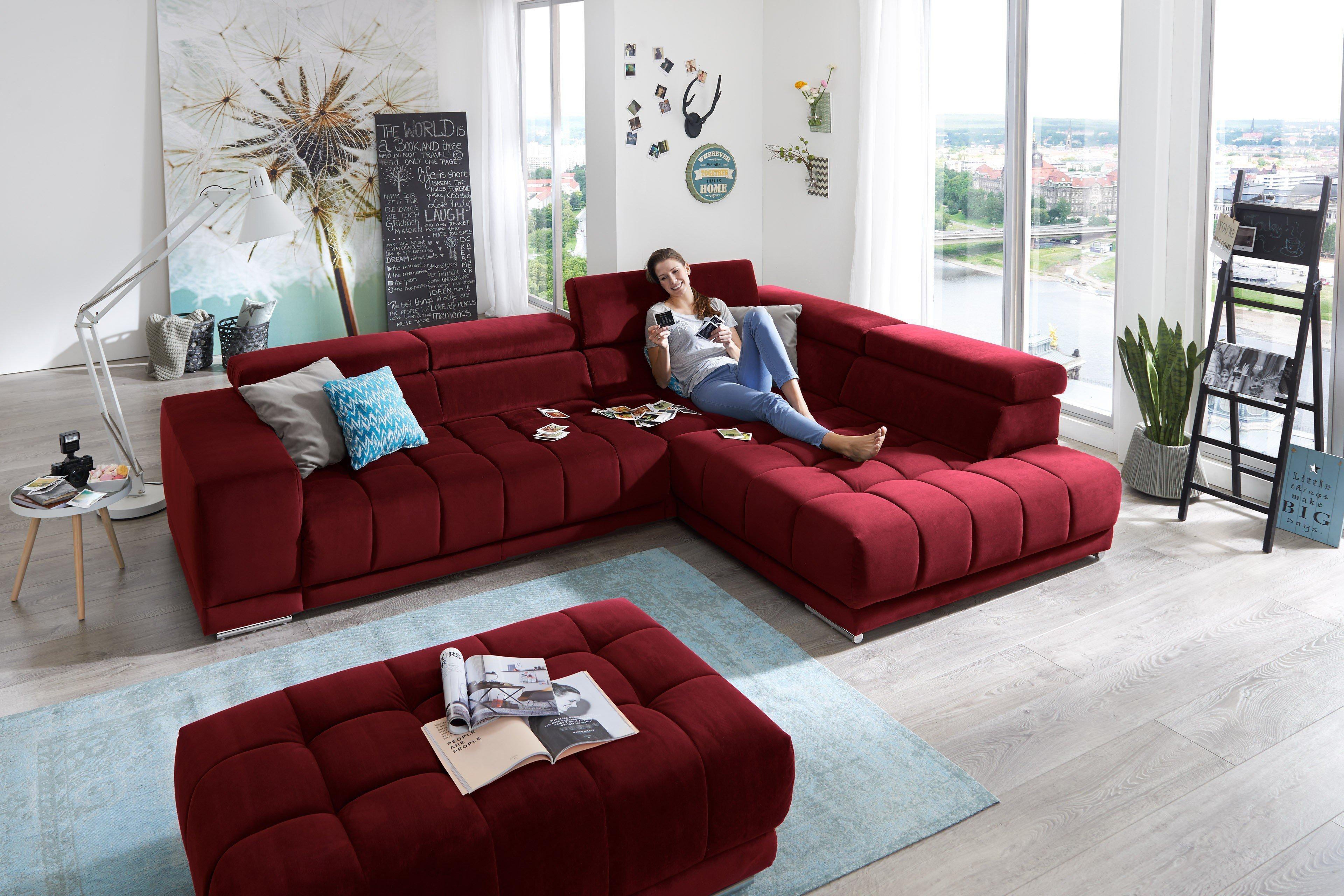 megapol satellite ecksofa in rot m bel letz ihr online shop. Black Bedroom Furniture Sets. Home Design Ideas