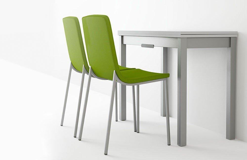 Esstisch Domino Glas anthrazit/ Stahl von CANCIO | Möbel Letz - Ihr ...