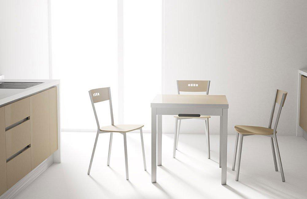 Esstisch Domino Glas taupe/ Stahl von CANCIO | Möbel Letz - Ihr ...