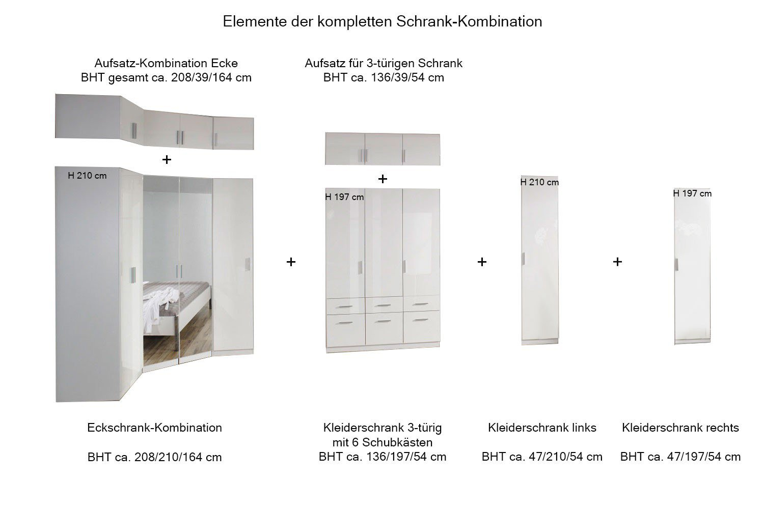 rauch celle schrank kombi wei spiegel m bel letz ihr online shop. Black Bedroom Furniture Sets. Home Design Ideas