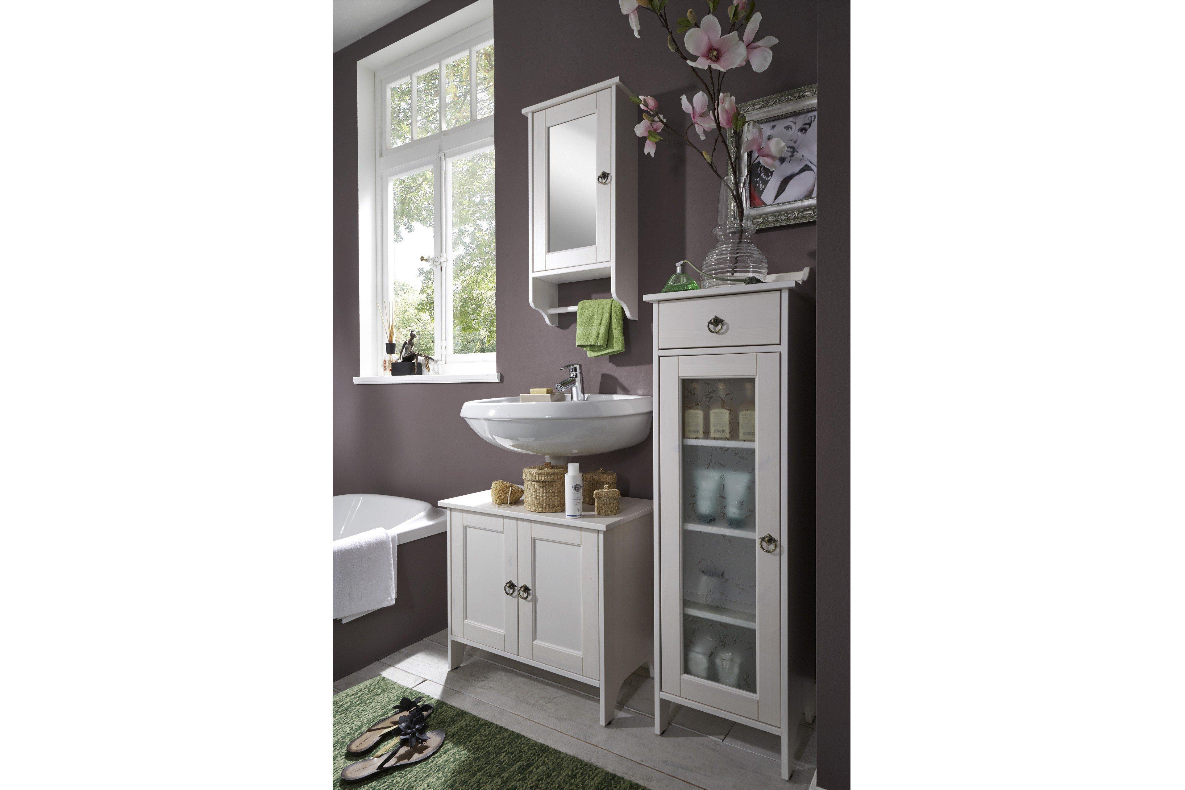 Pure Natur Badezimmer Norwin weiß | Möbel Letz - Ihr Online-Shop