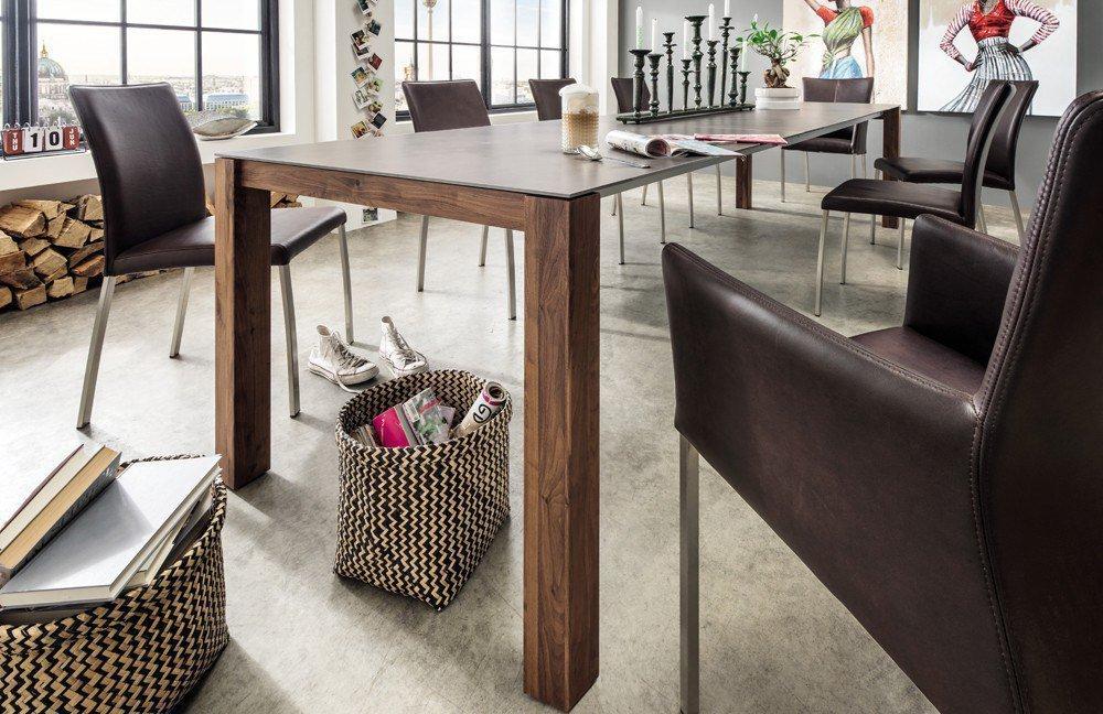 pure natur janne esstisch keramik nussbaum m bel letz ihr online shop. Black Bedroom Furniture Sets. Home Design Ideas