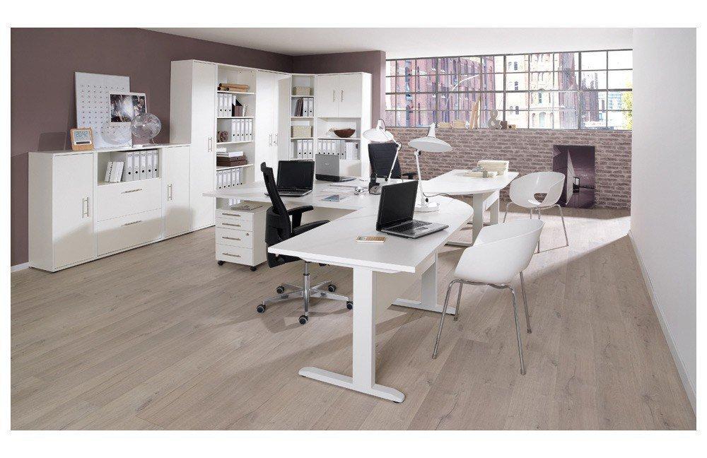 Wellemöbel Büro Combi+ 6 in Reinweiß. | Möbel Letz - Ihr Online-Shop