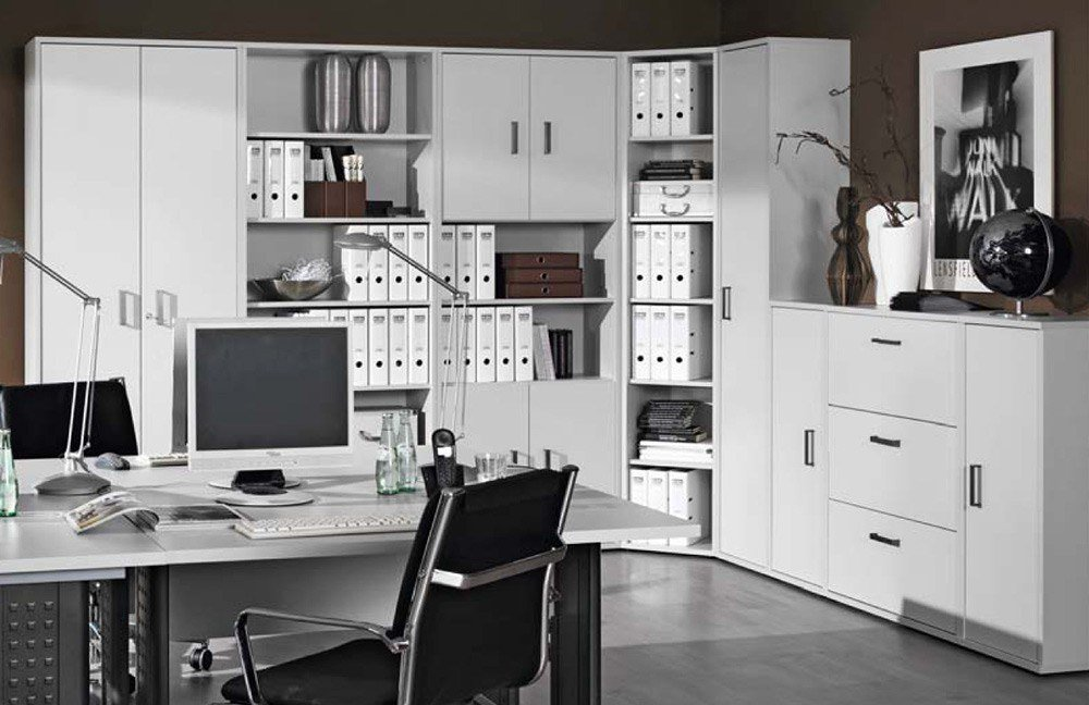 wellem bel b rocombi 3 office grau m bel letz ihr online shop. Black Bedroom Furniture Sets. Home Design Ideas