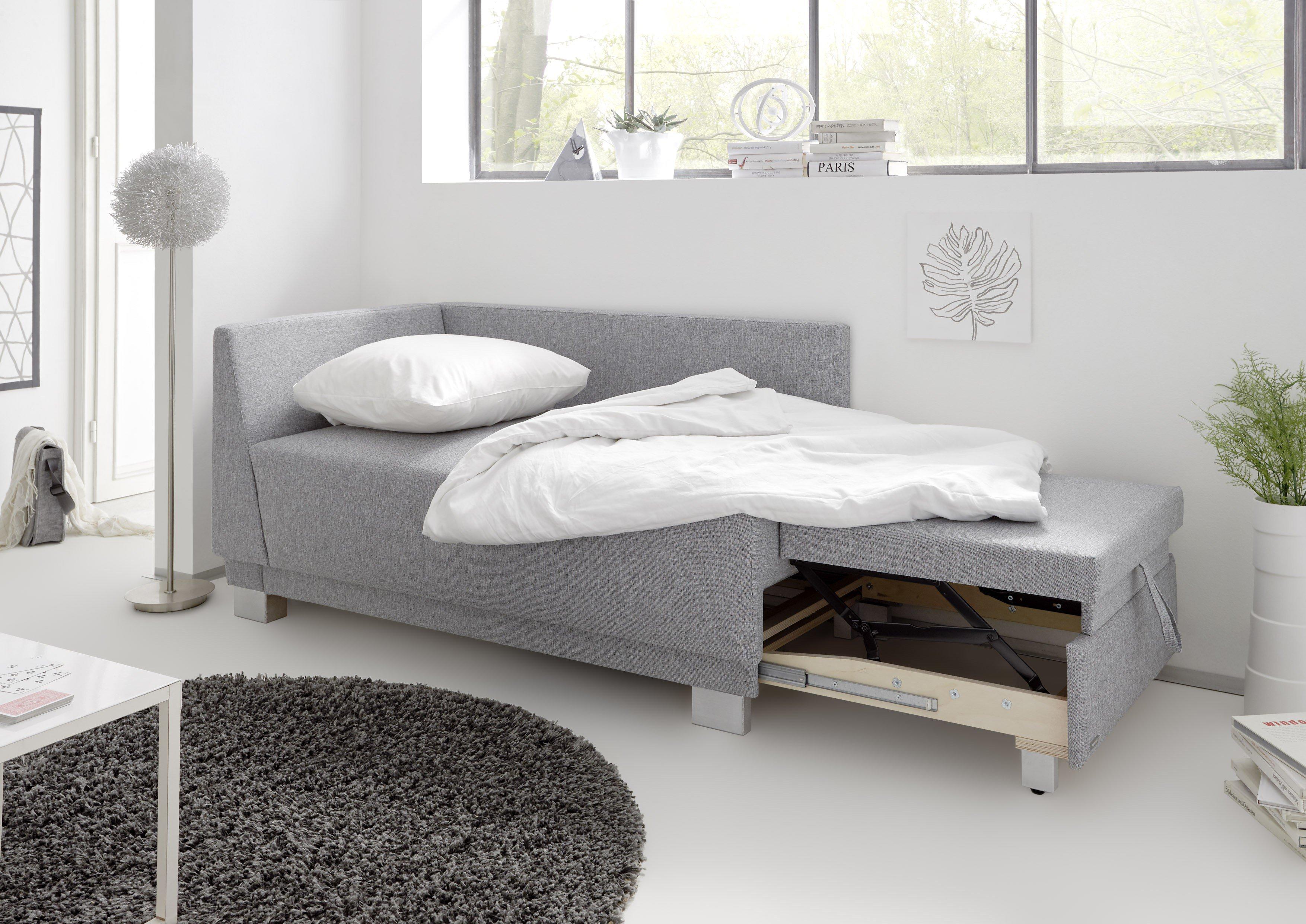 reposa polsterm bel einzelliege grau verona m mit bettkasten m bel letz online shop. Black Bedroom Furniture Sets. Home Design Ideas