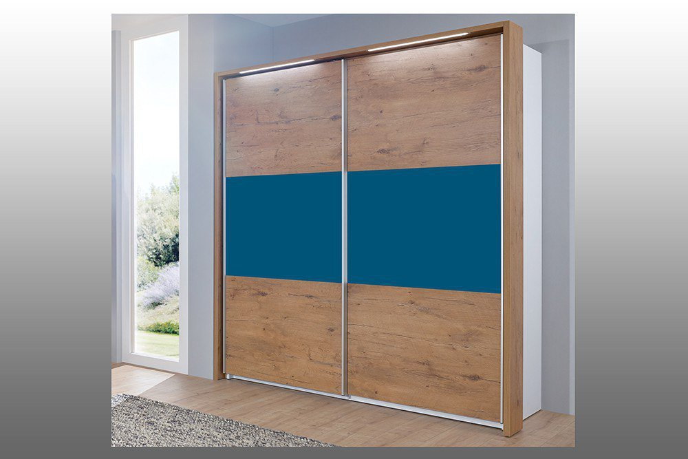 Schrank loop von Rudolf Wildeiche - blau | Möbel Letz - Ihr Online-Shop