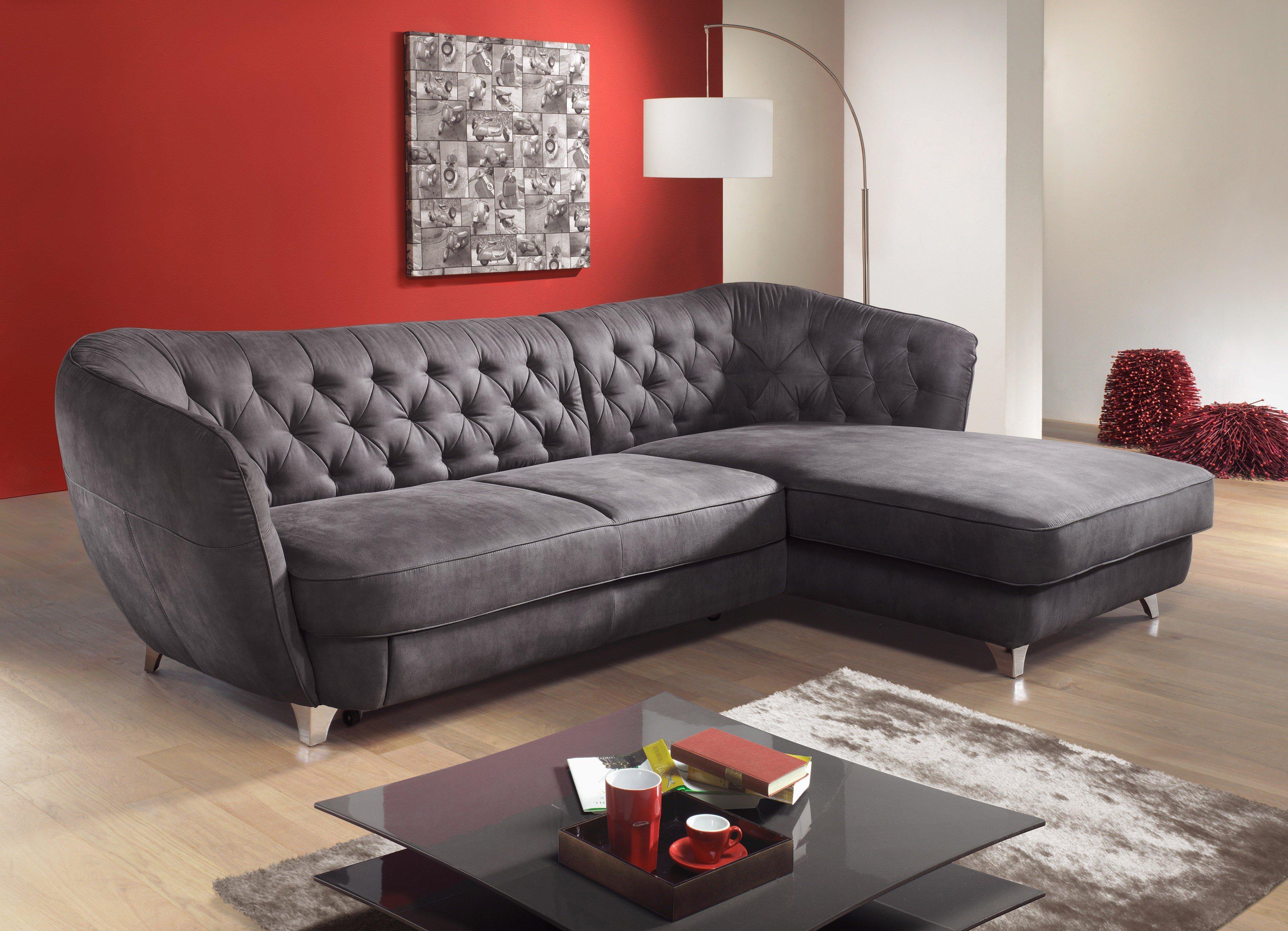 retro von cotta eckgarnitur darkgrey - Eckschlafsofa Die Praktischen Sofa Fur Ihren Komfort