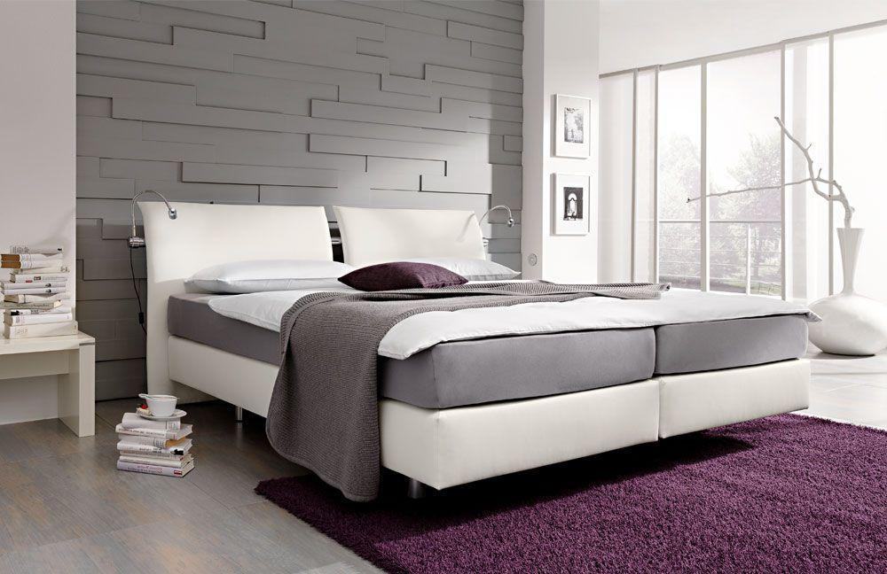 boxspringbett wei. Black Bedroom Furniture Sets. Home Design Ideas