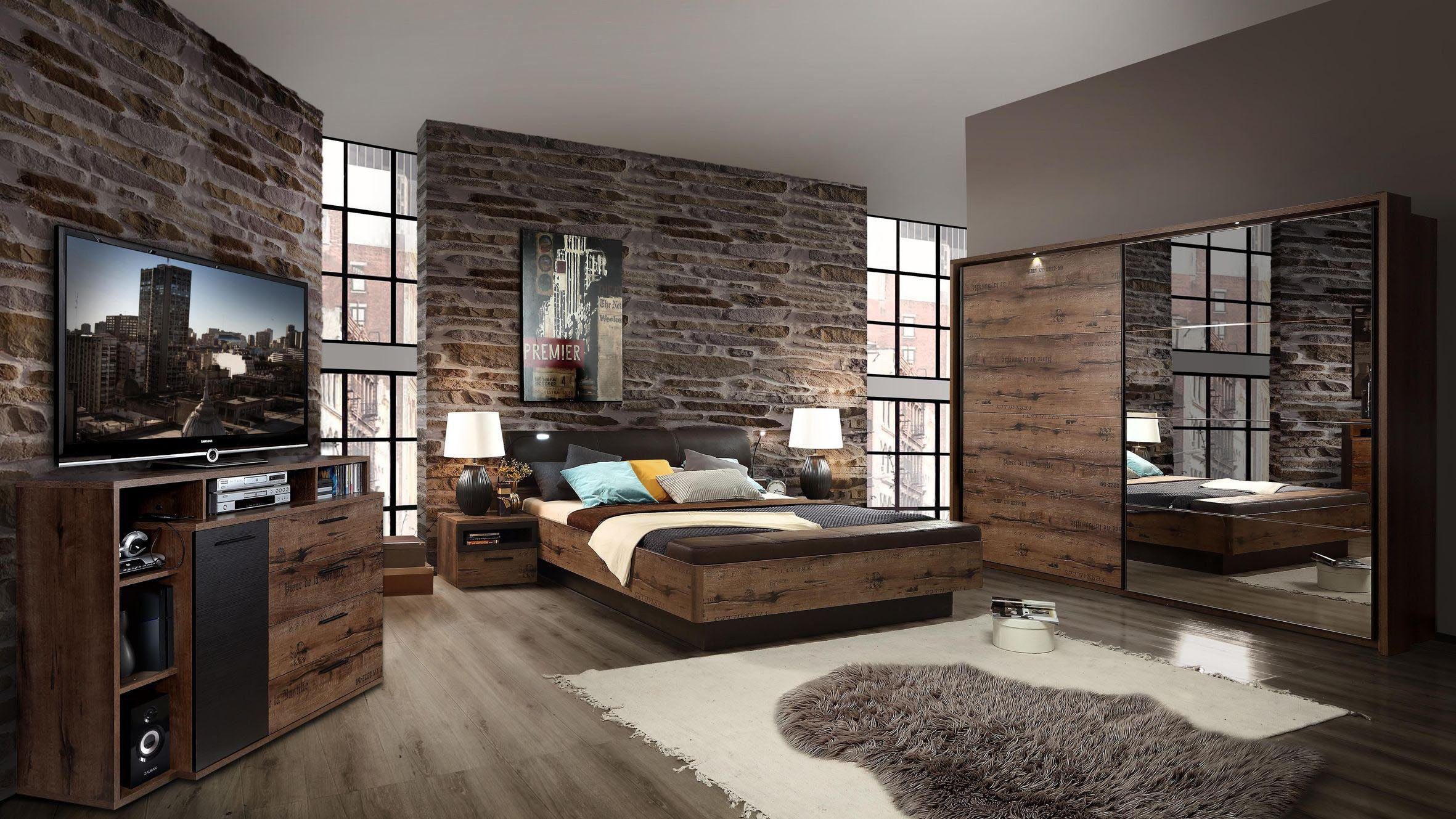 forte jacky schlafzimmer eiche mit schrift m bel letz. Black Bedroom Furniture Sets. Home Design Ideas