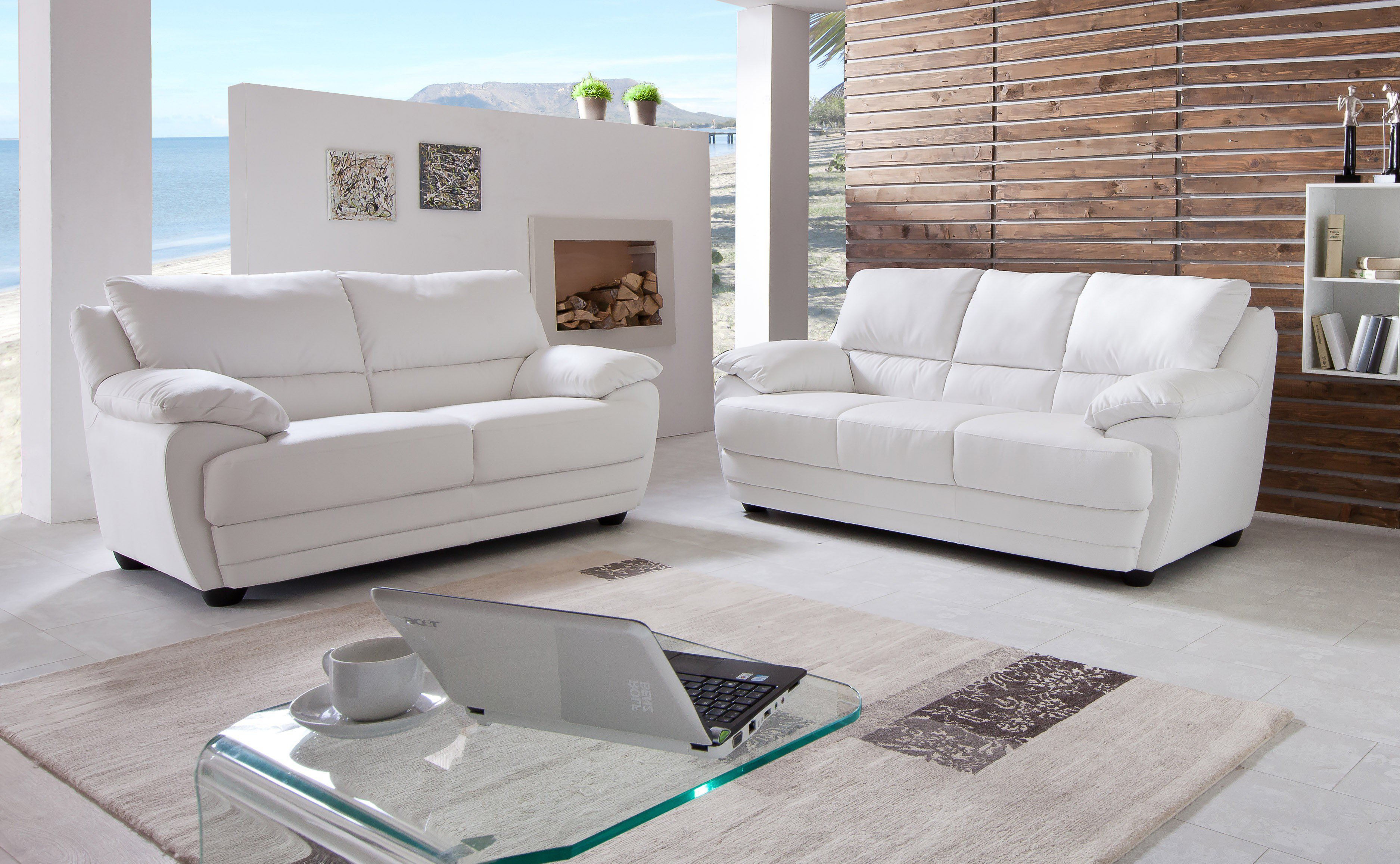 cotta nebolo polstergarnitur in wei m bel letz ihr online shop. Black Bedroom Furniture Sets. Home Design Ideas