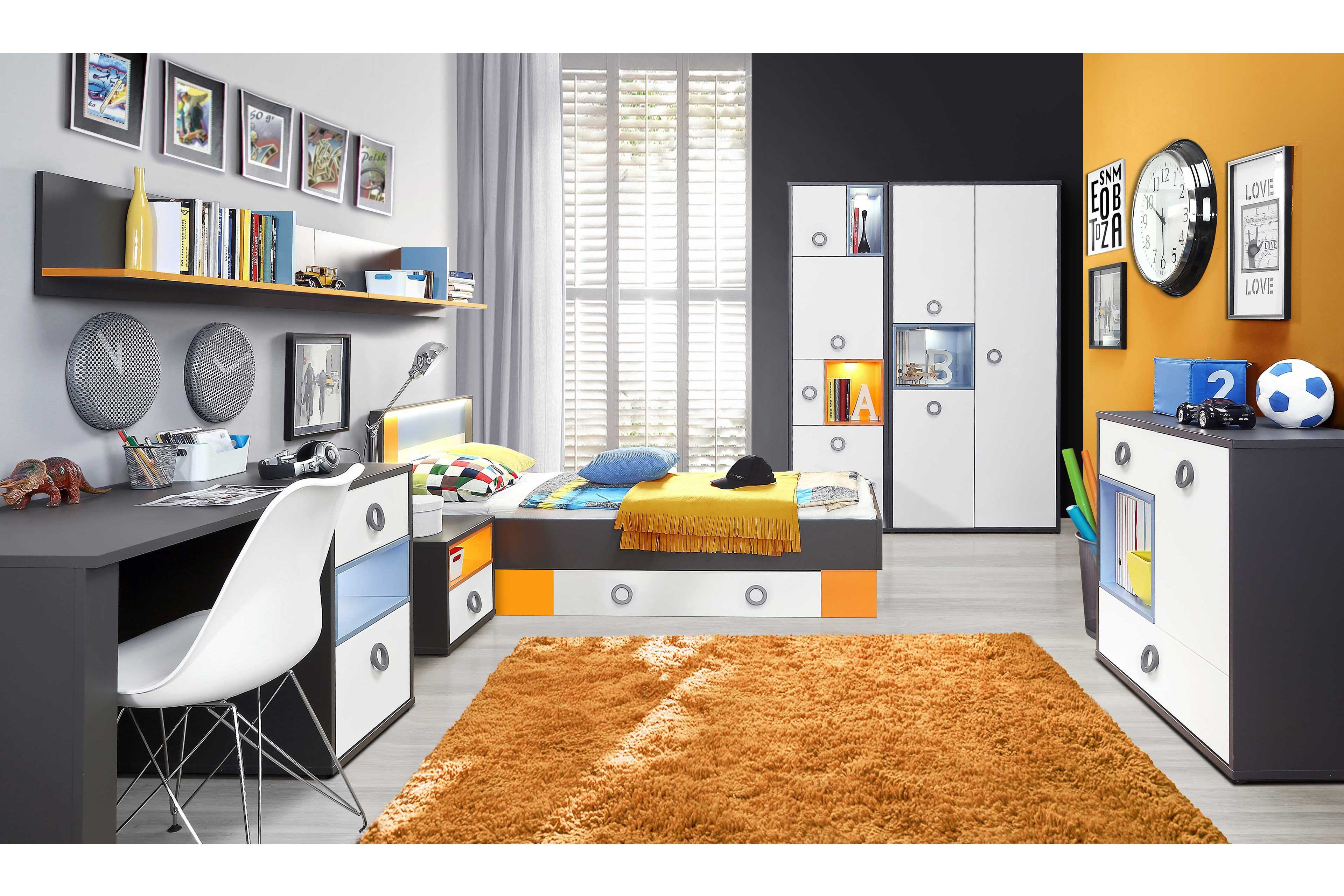 forte colors jugendzimmer grau m bel letz ihr online shop. Black Bedroom Furniture Sets. Home Design Ideas