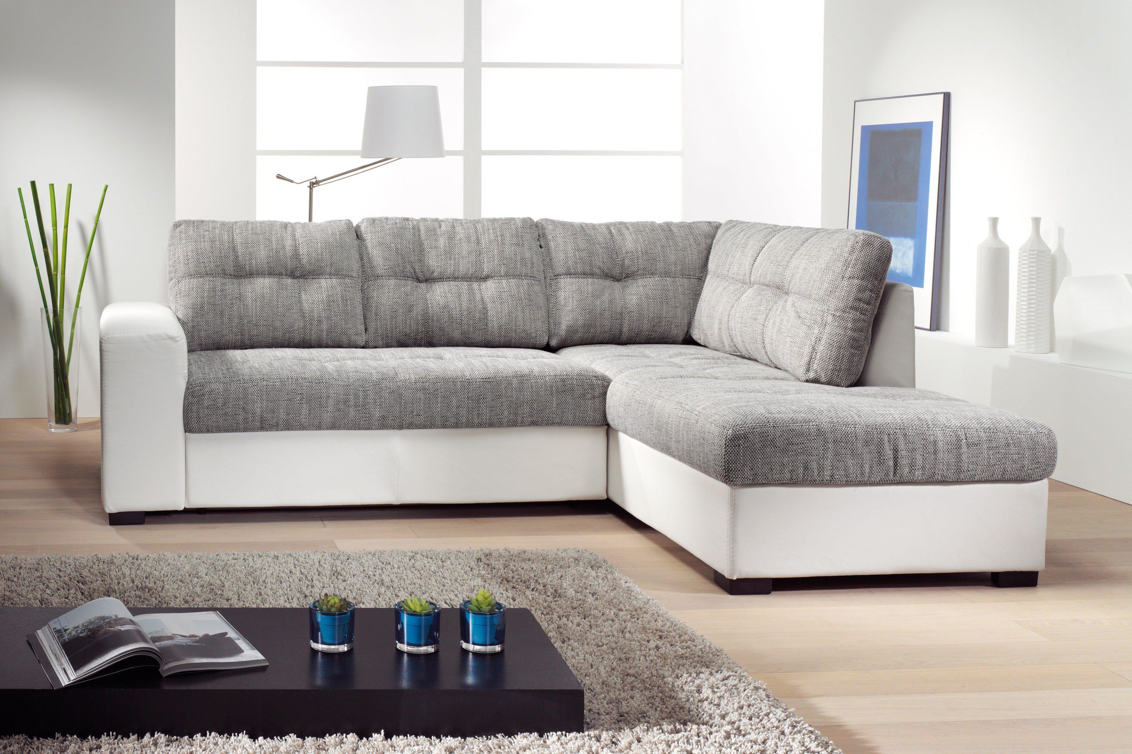 Cotta Tigris Ii Polsterecke In Grau Weiß Möbel Letz Ihr Online Shop