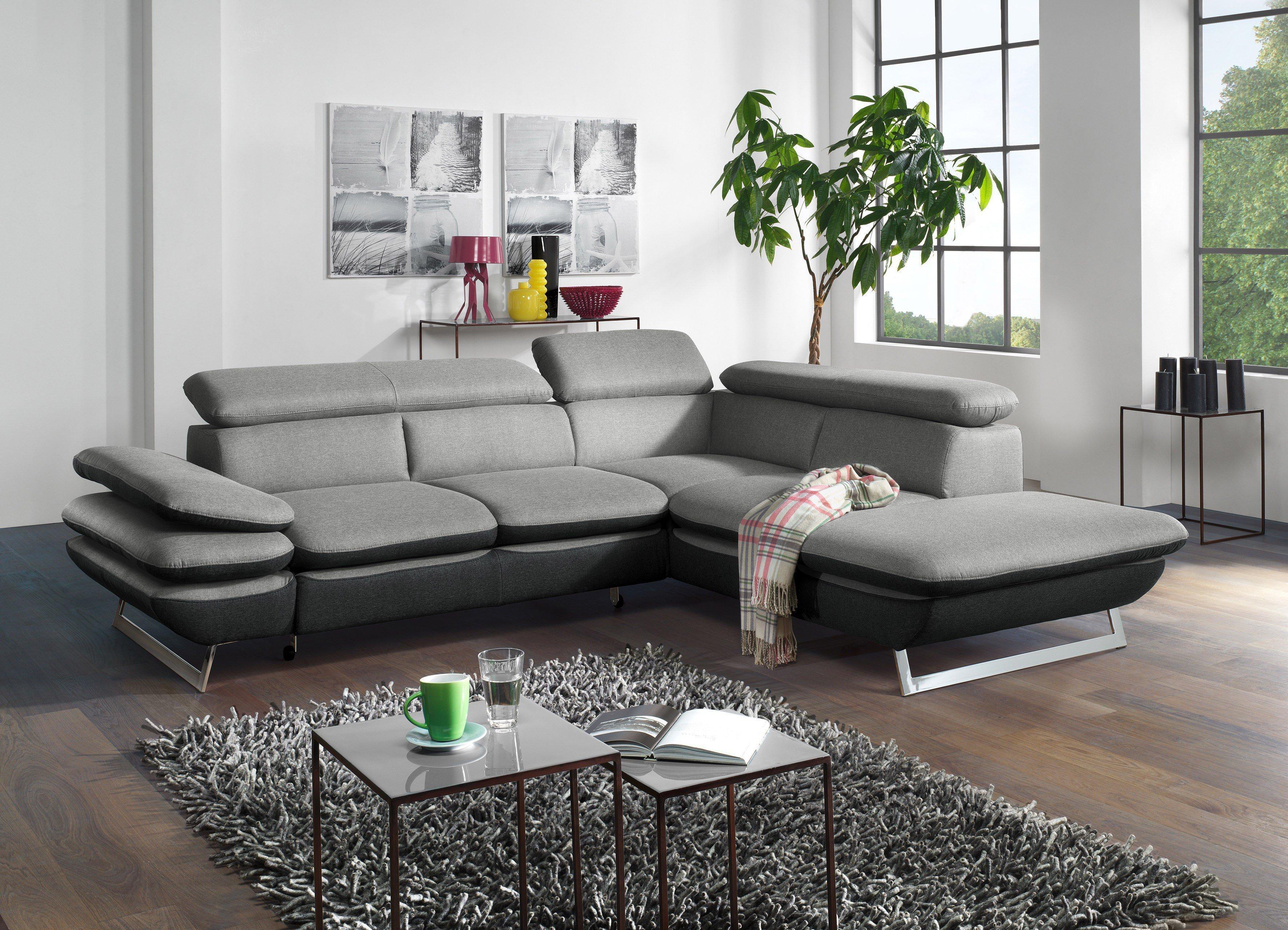 cotta prestige ecksofa in grau schwarz m bel letz ihr online shop. Black Bedroom Furniture Sets. Home Design Ideas