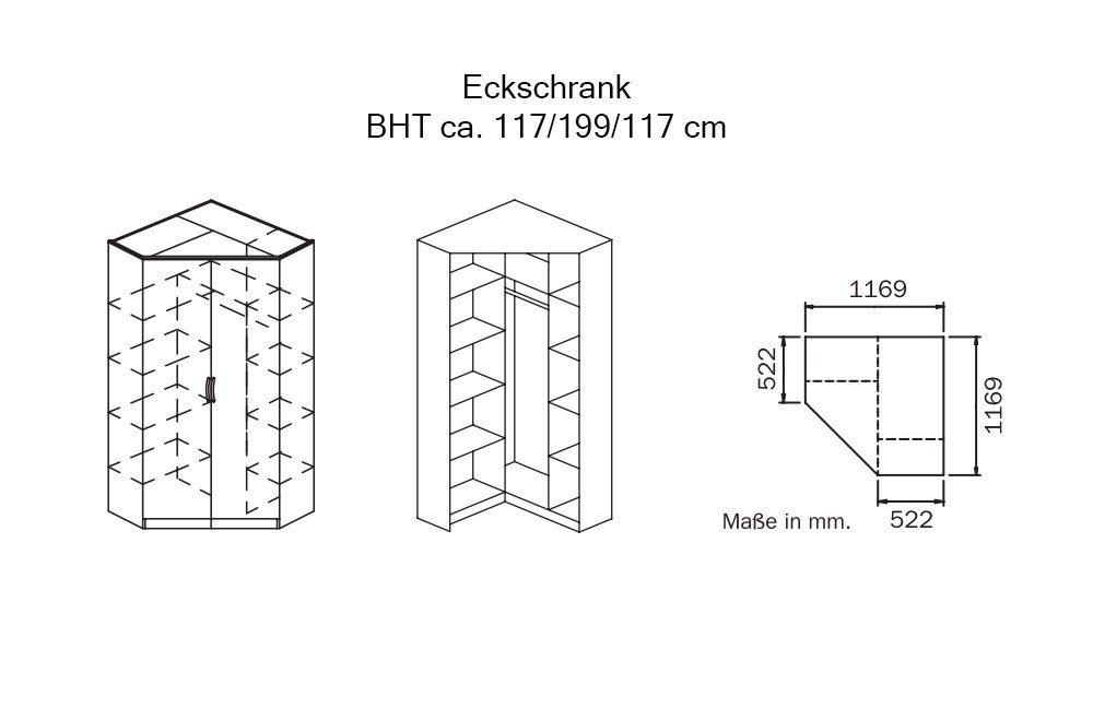 Rauch Bremen-Extra Eckschrank 2-türig | Möbel Letz - Ihr Online-Shop