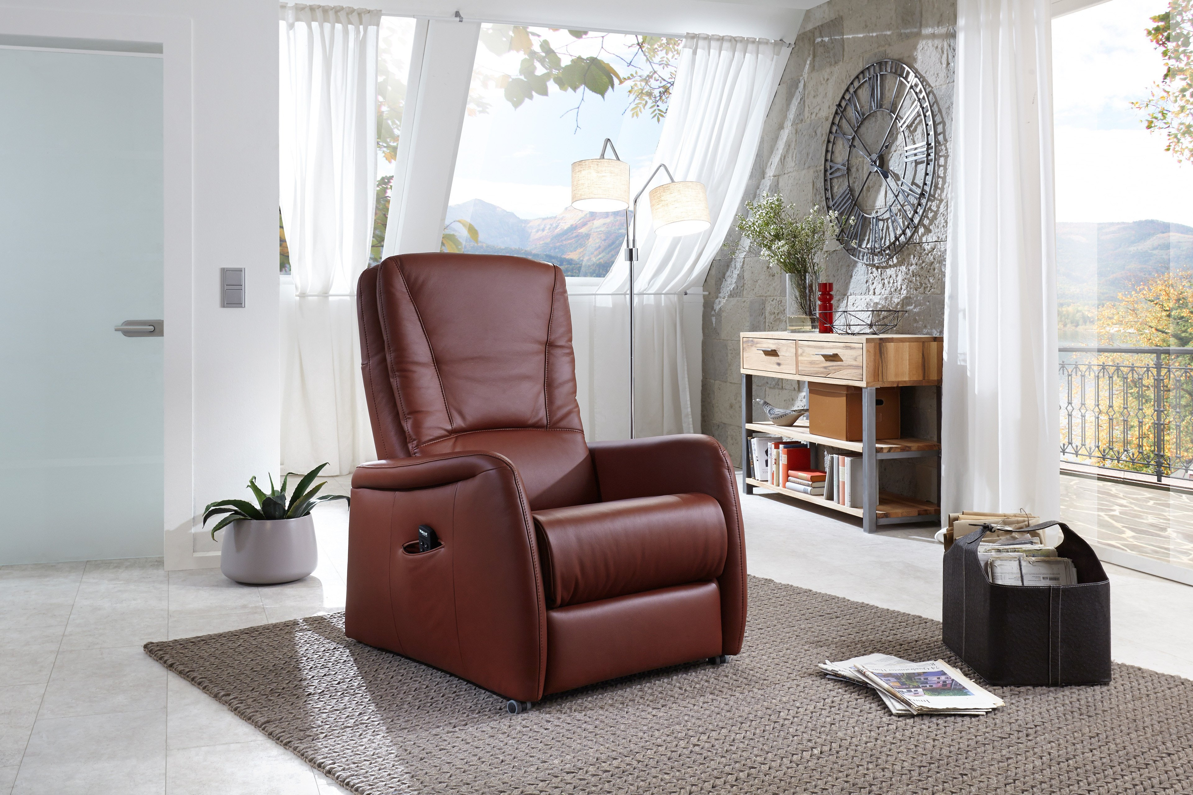 Hukla Ap02 Tv Sessel In Rot Braun Möbel Letz Ihr Online Shop