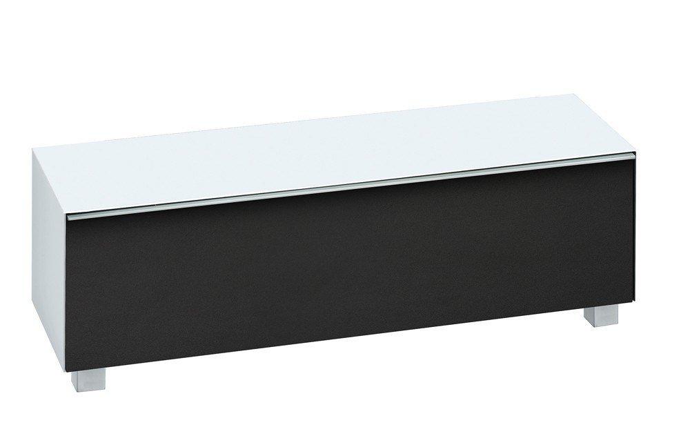 maja m bel lowboard soundconcept glass schwarz wei. Black Bedroom Furniture Sets. Home Design Ideas