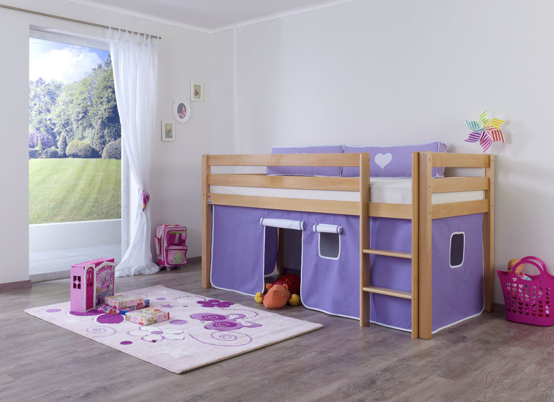 Bett Vorhang Planen : Relita alex bett vorhang purple weiß möbel letz ihr online shop