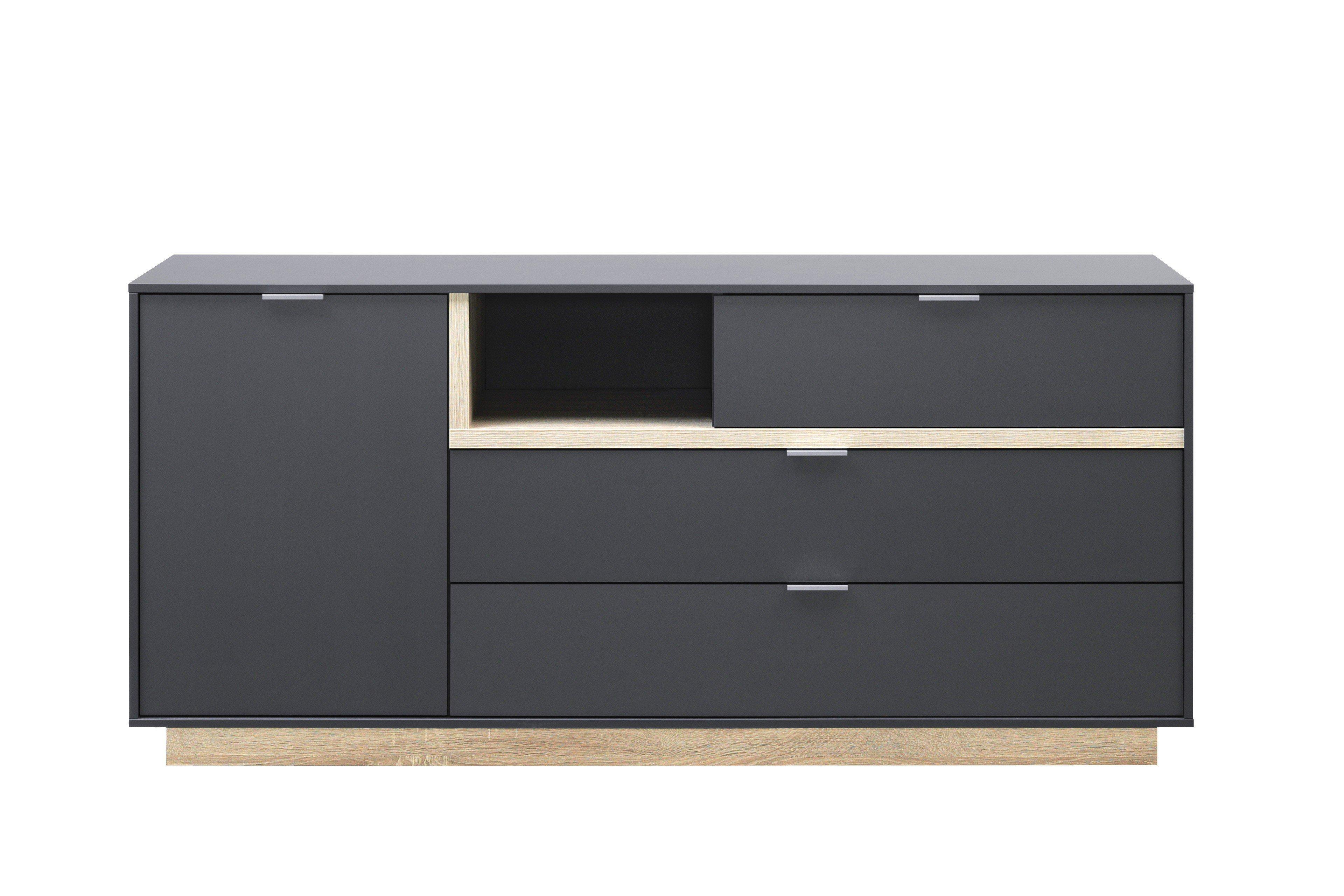 cs schmalm bel sideboard my ell graphit eiche m bel letz ihr online shop. Black Bedroom Furniture Sets. Home Design Ideas