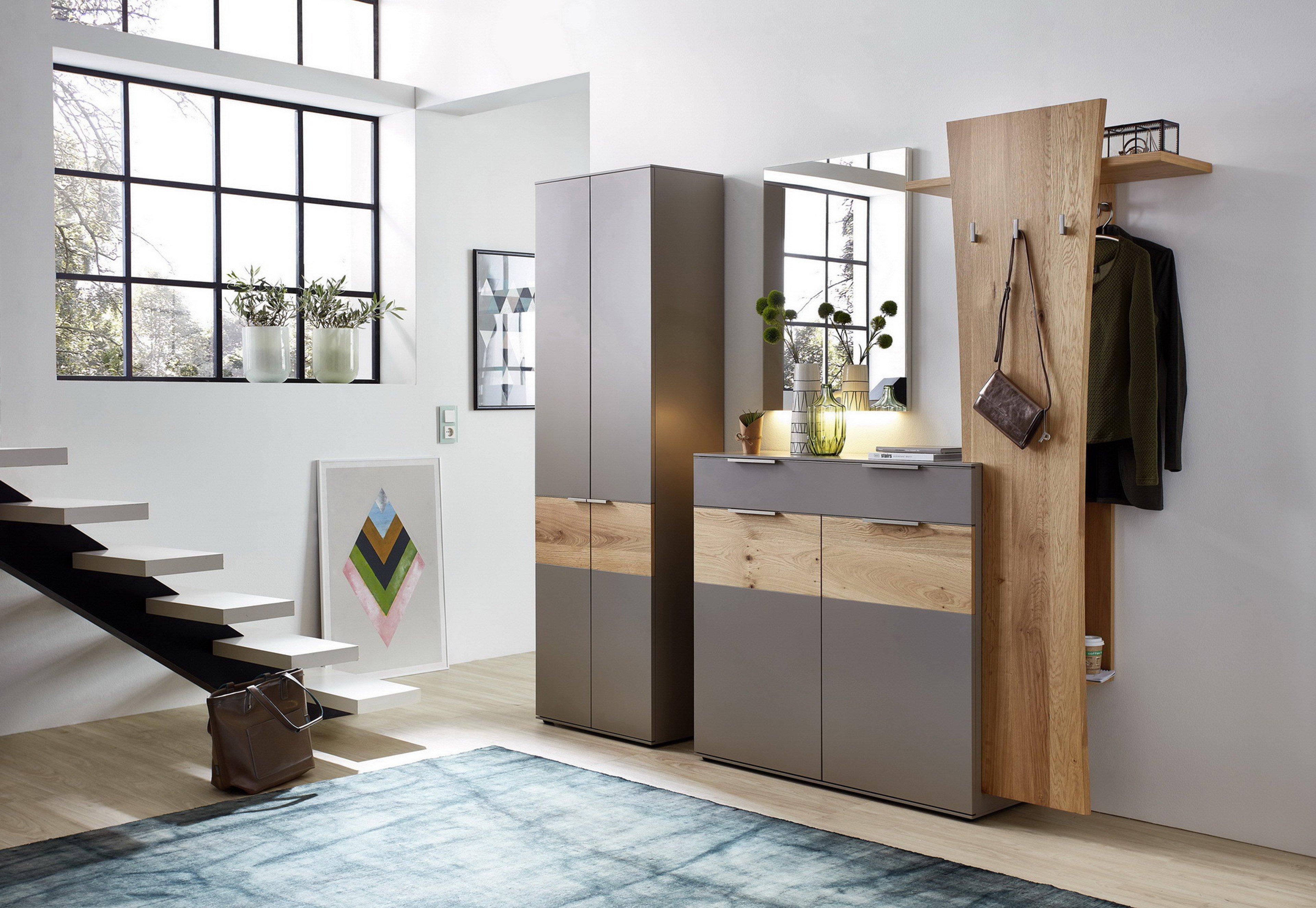 leinkenjost salerno garderobe in lack fango balkeneiche m bel letz ihr online shop. Black Bedroom Furniture Sets. Home Design Ideas