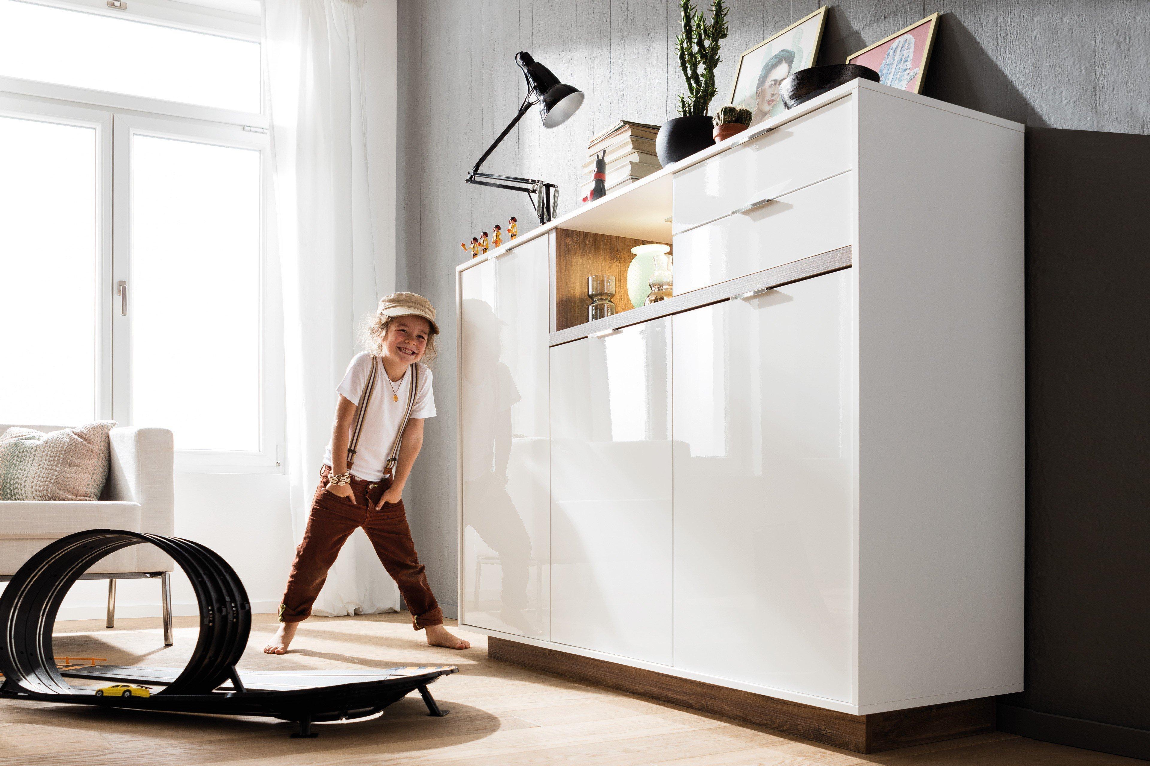 cs schmalm bel highboard my ell wei stirling eiche m bel letz ihr online shop. Black Bedroom Furniture Sets. Home Design Ideas