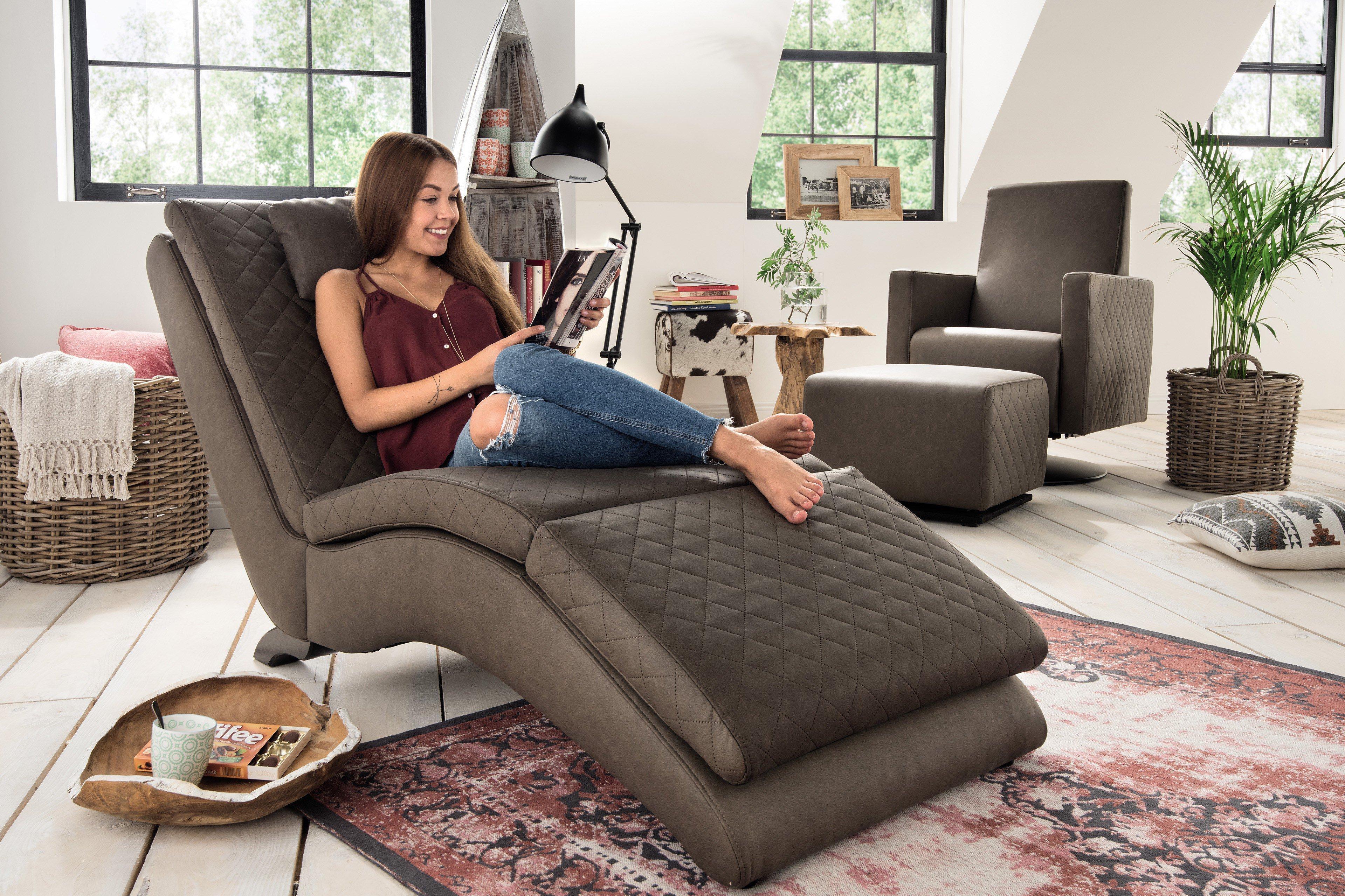 pure natur cilia einzelliege braun m bel letz ihr online shop. Black Bedroom Furniture Sets. Home Design Ideas