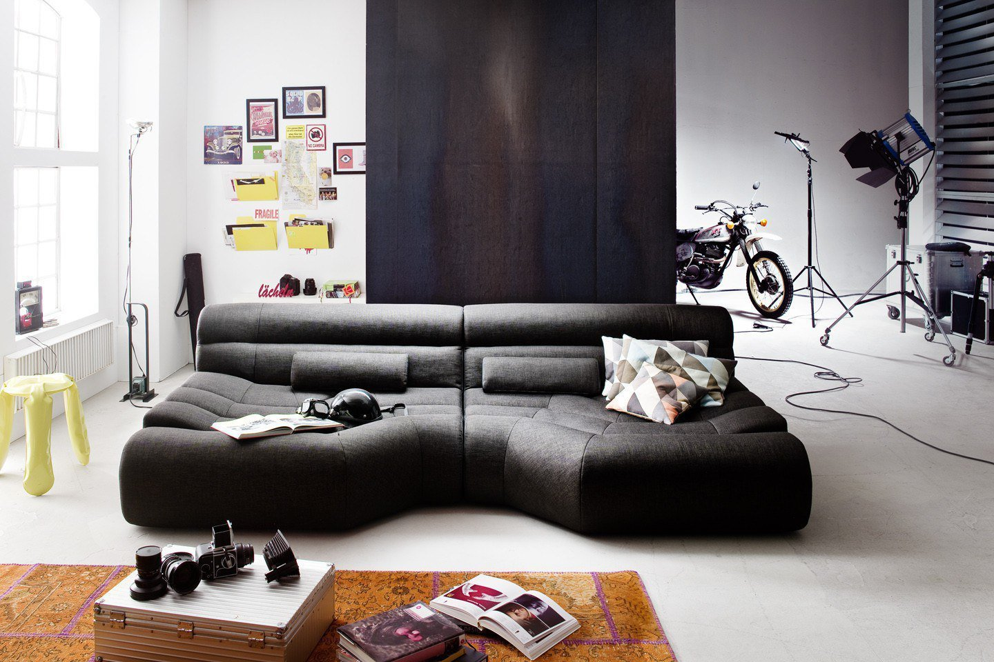 Perfekt Elements Von New Look   Big Sofa Dunkelgrau Schwarz