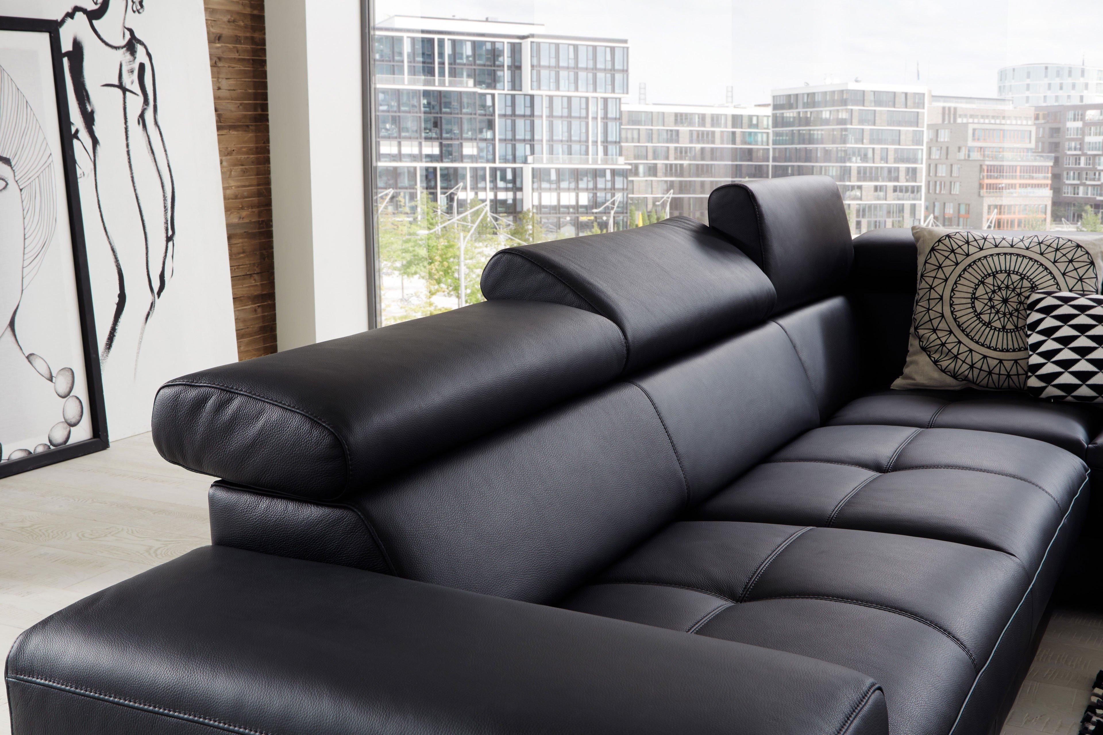 Ledercouch schwarz kaufen  Pure Natur Gyda Ledersofa schwarz | Möbel Letz - Ihr Online-Shop
