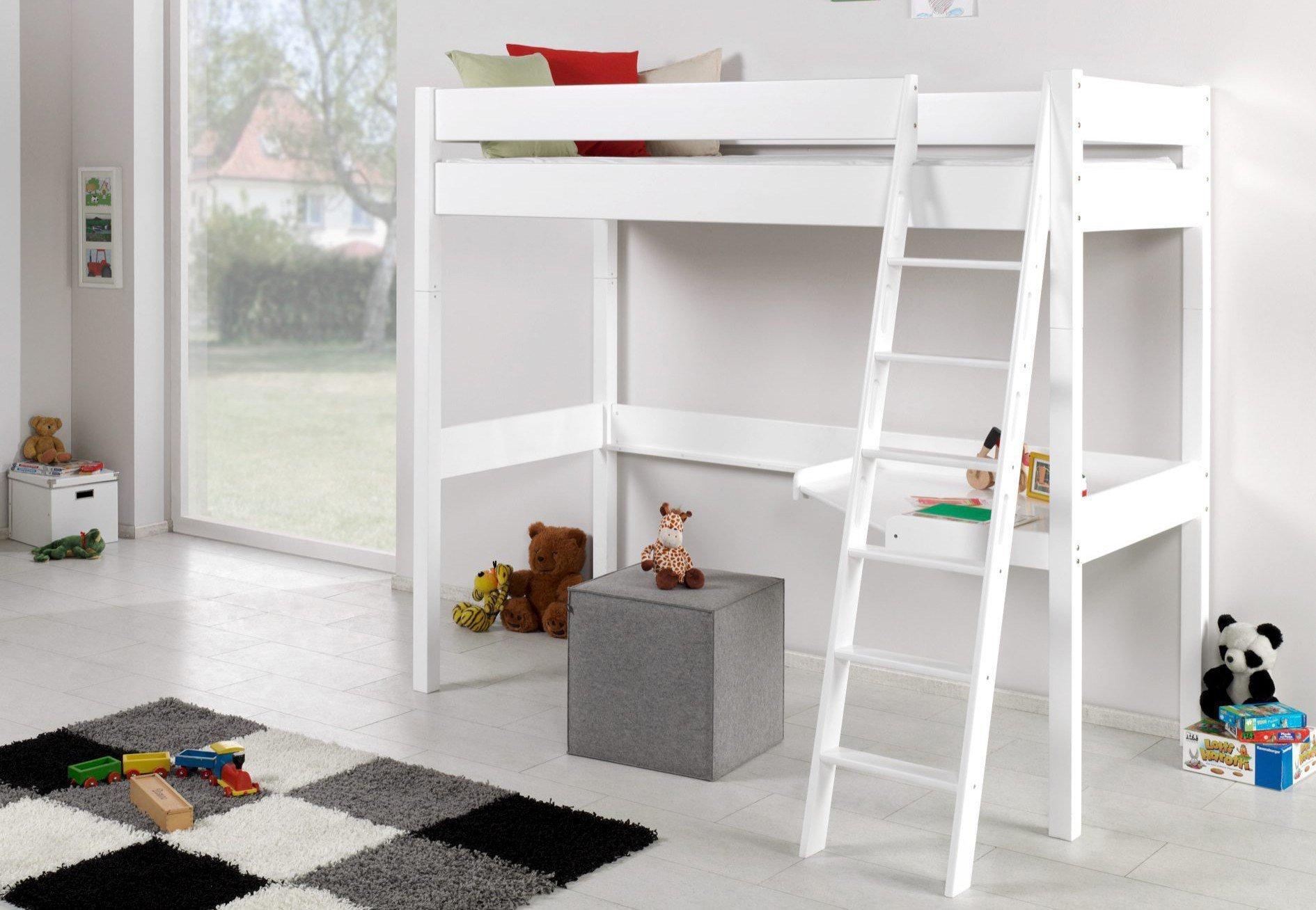 relita renate hochbett buche wei lackiert m bel letz ihr online shop. Black Bedroom Furniture Sets. Home Design Ideas