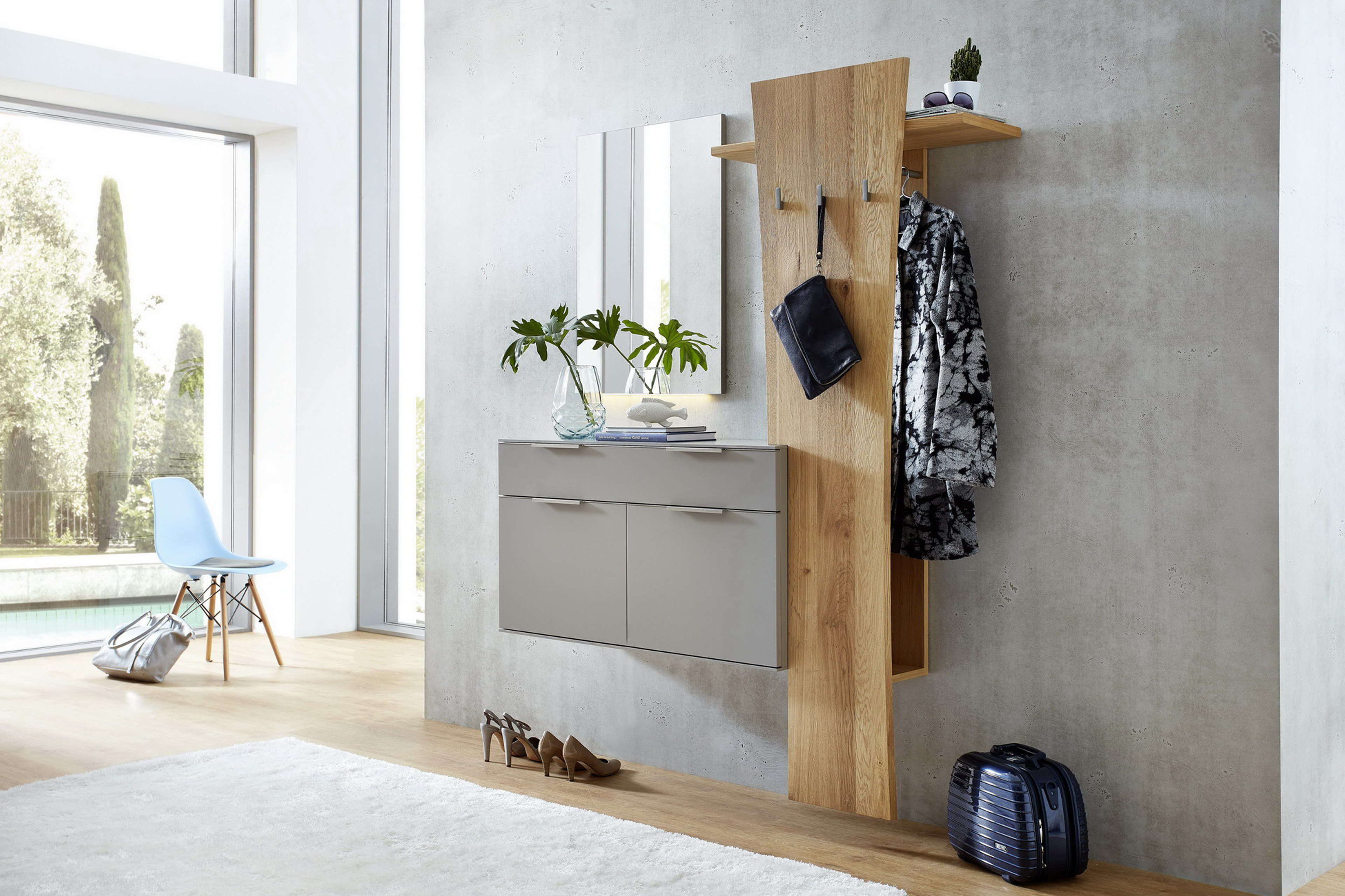 flur garderobe ber eck ber eck garderobe flur minimalistisch eingang frankfurt am main von. Black Bedroom Furniture Sets. Home Design Ideas