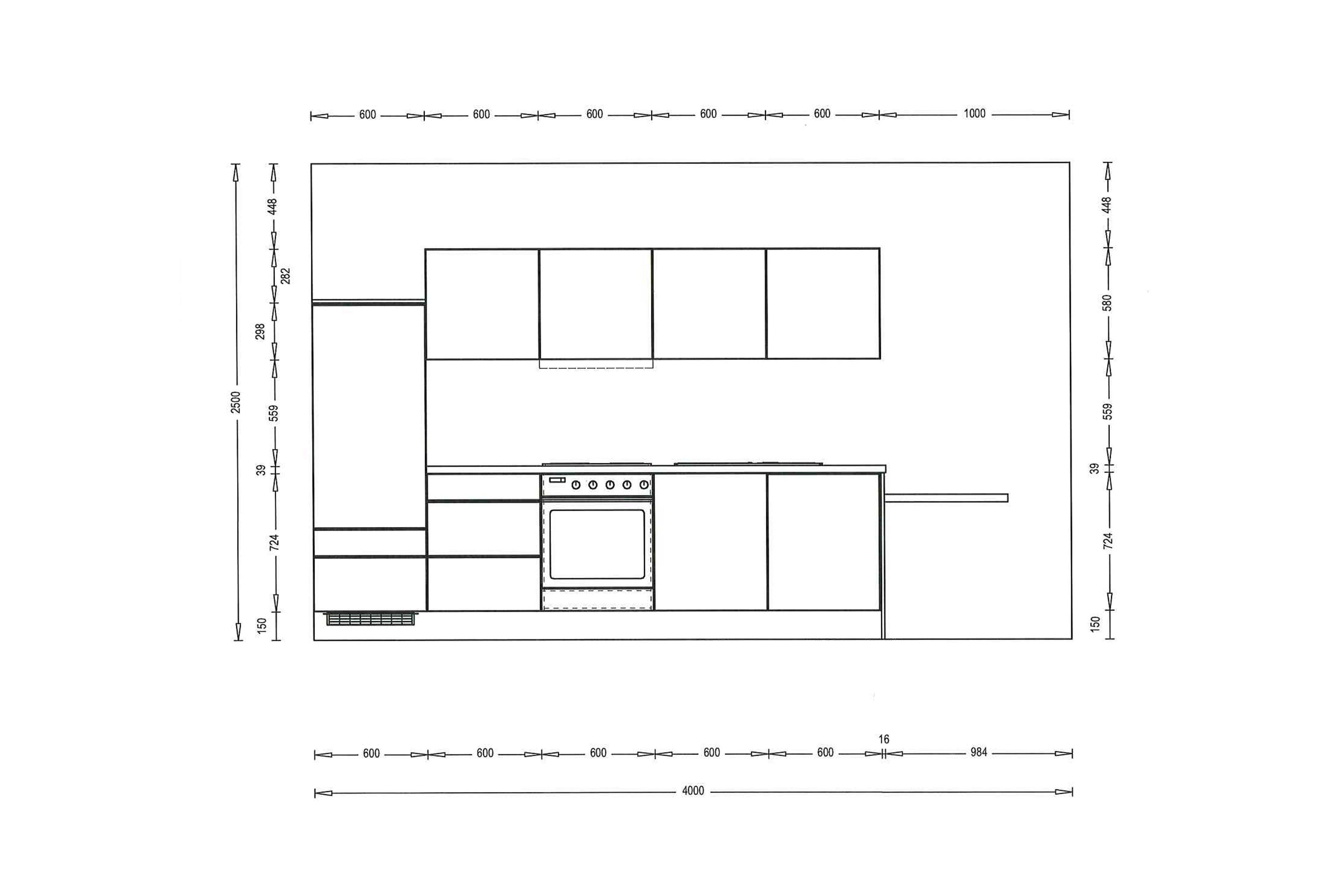 Burger Küche Cindy in Moonlightgrey-Weiß | Möbel Letz - Ihr Online-Shop