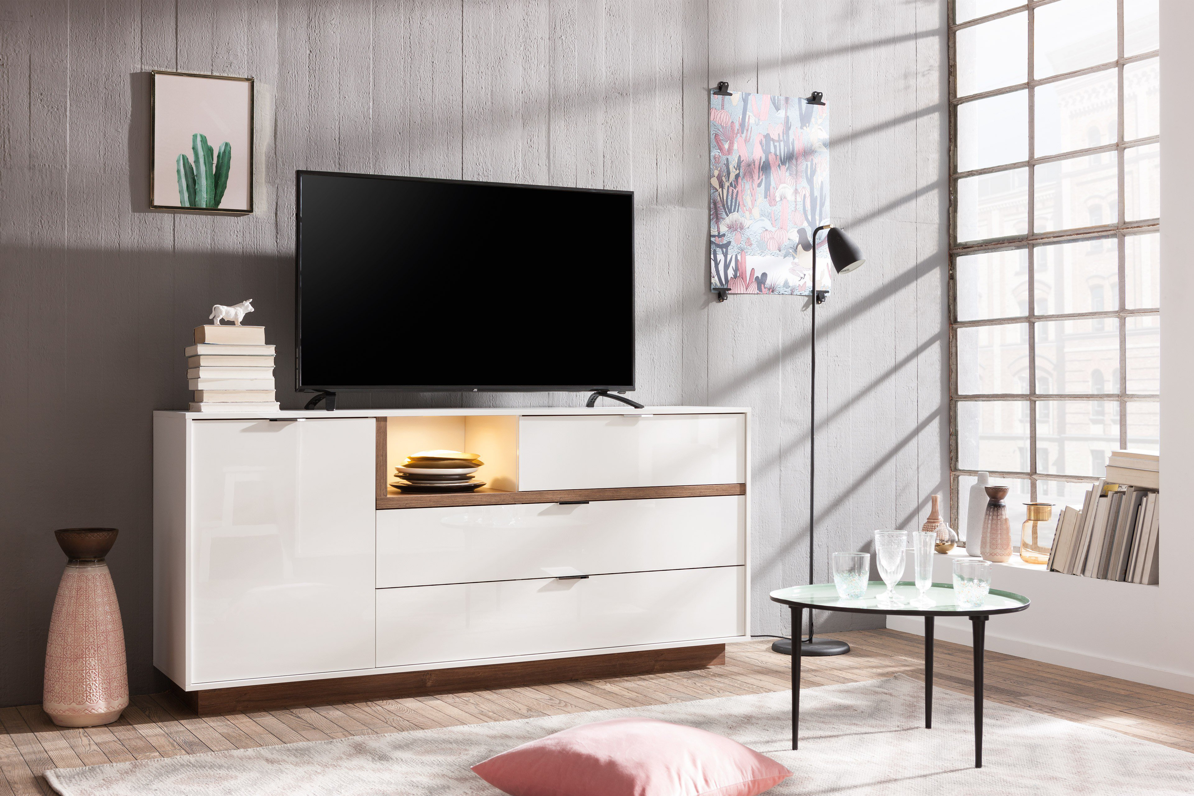 cs schmalm bel sideboard my ell wei stirling eiche m bel letz ihr online shop. Black Bedroom Furniture Sets. Home Design Ideas