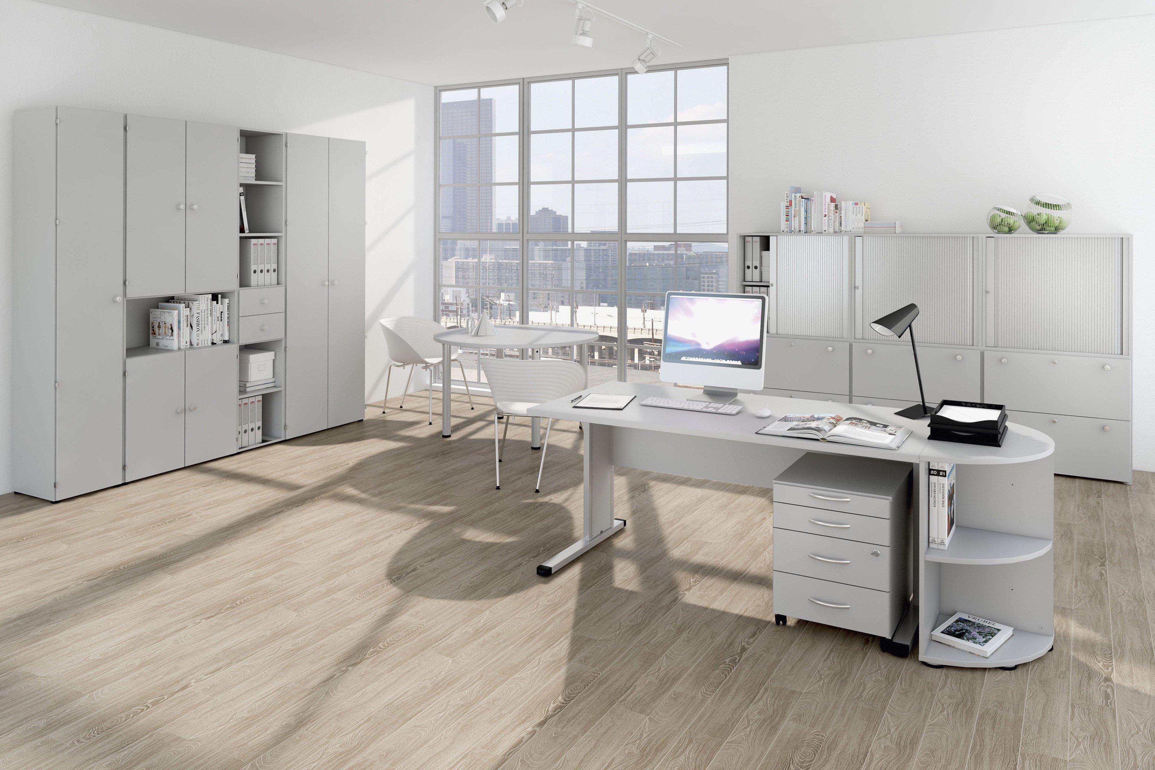 Welle Schreibtisch Kyro office-grau | Möbel Letz - Ihr Online-Shop