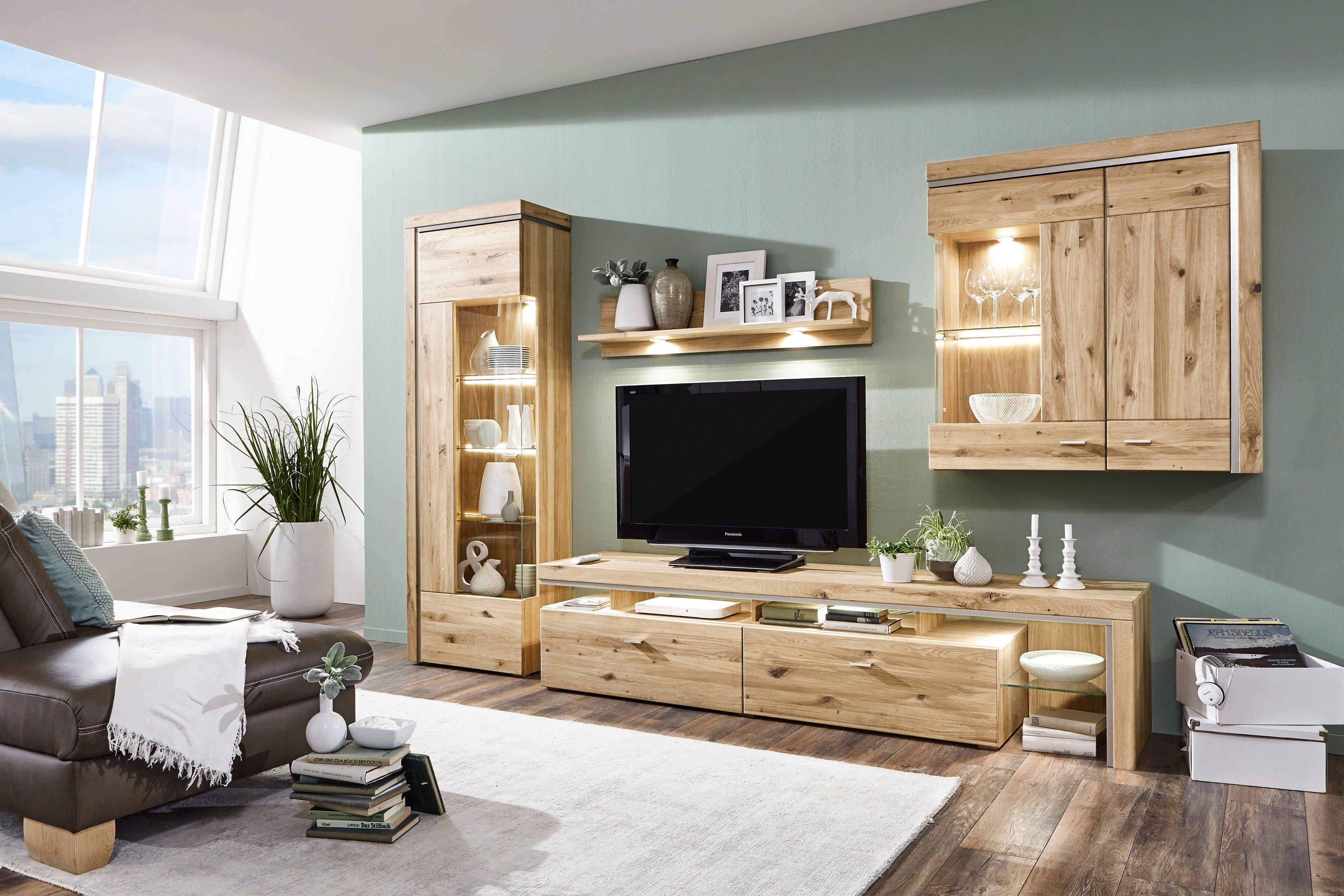 ideal m bel wohnwand bruni 03 alteiche m bel letz ihr online shop. Black Bedroom Furniture Sets. Home Design Ideas