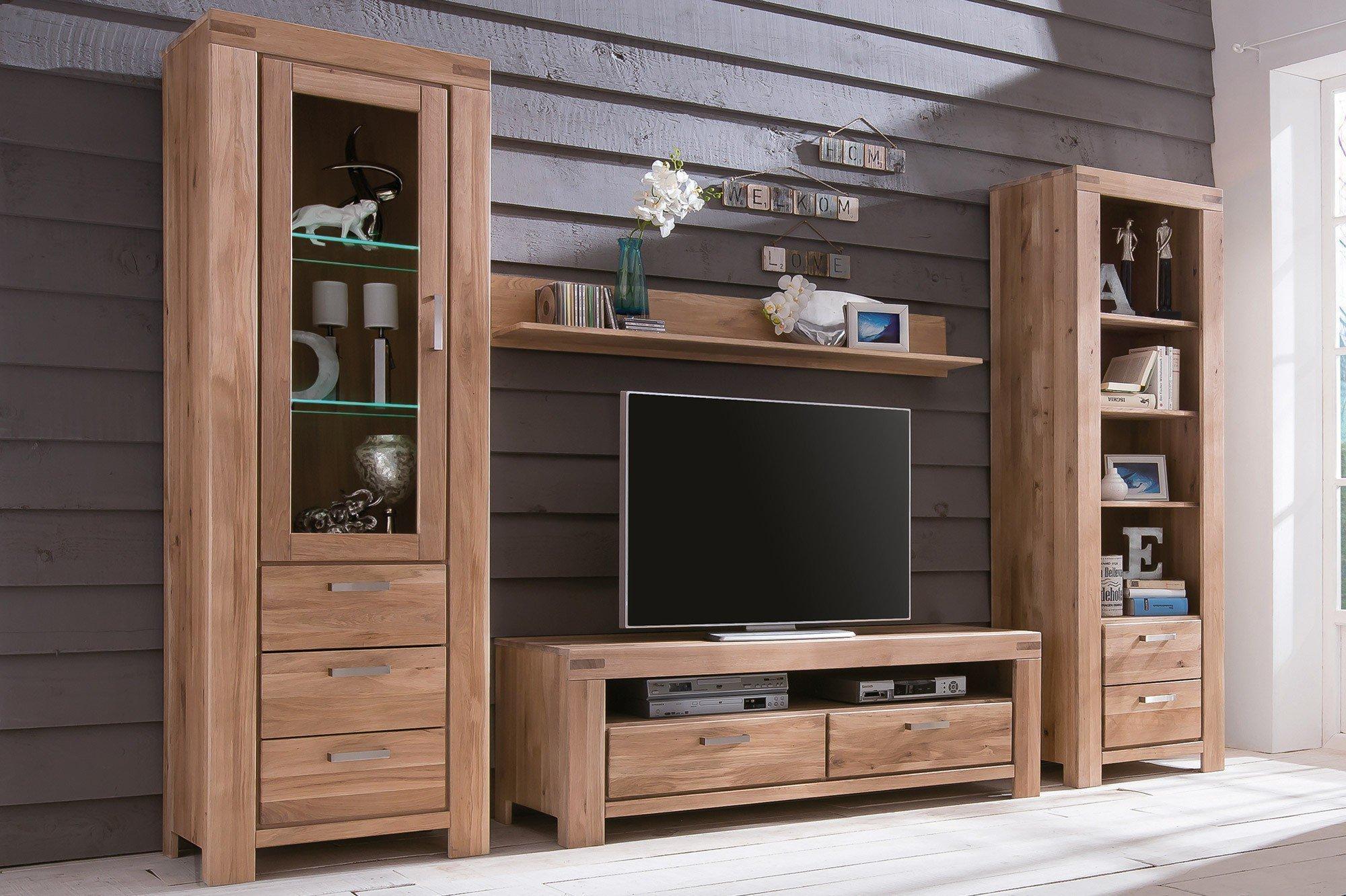 elfo m bel wohnwand kira massive wildeiche bianco m bel letz ihr online shop. Black Bedroom Furniture Sets. Home Design Ideas