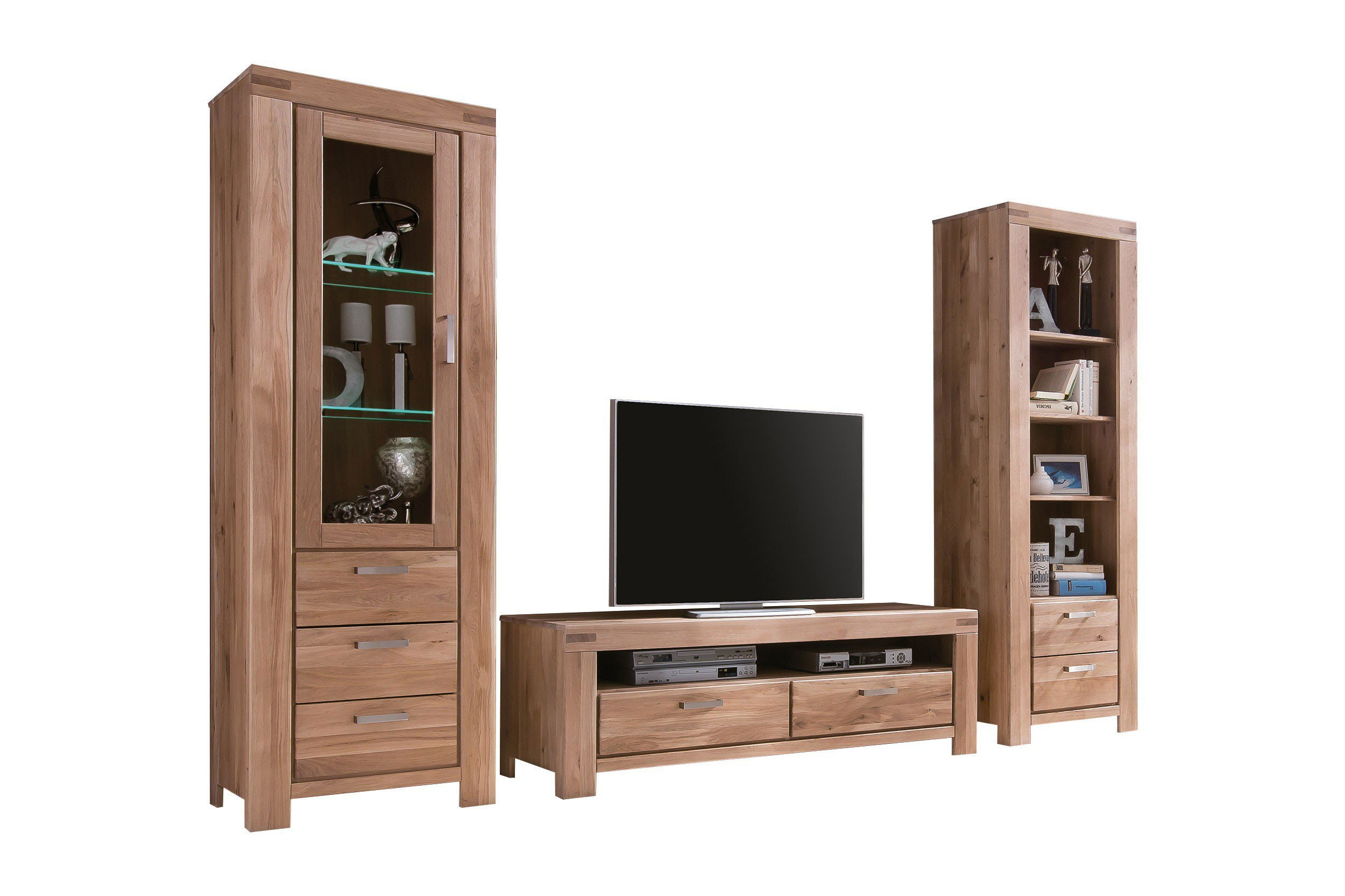elfo m bel wohnwand kira wildeiche bianco m bel letz ihr online shop. Black Bedroom Furniture Sets. Home Design Ideas