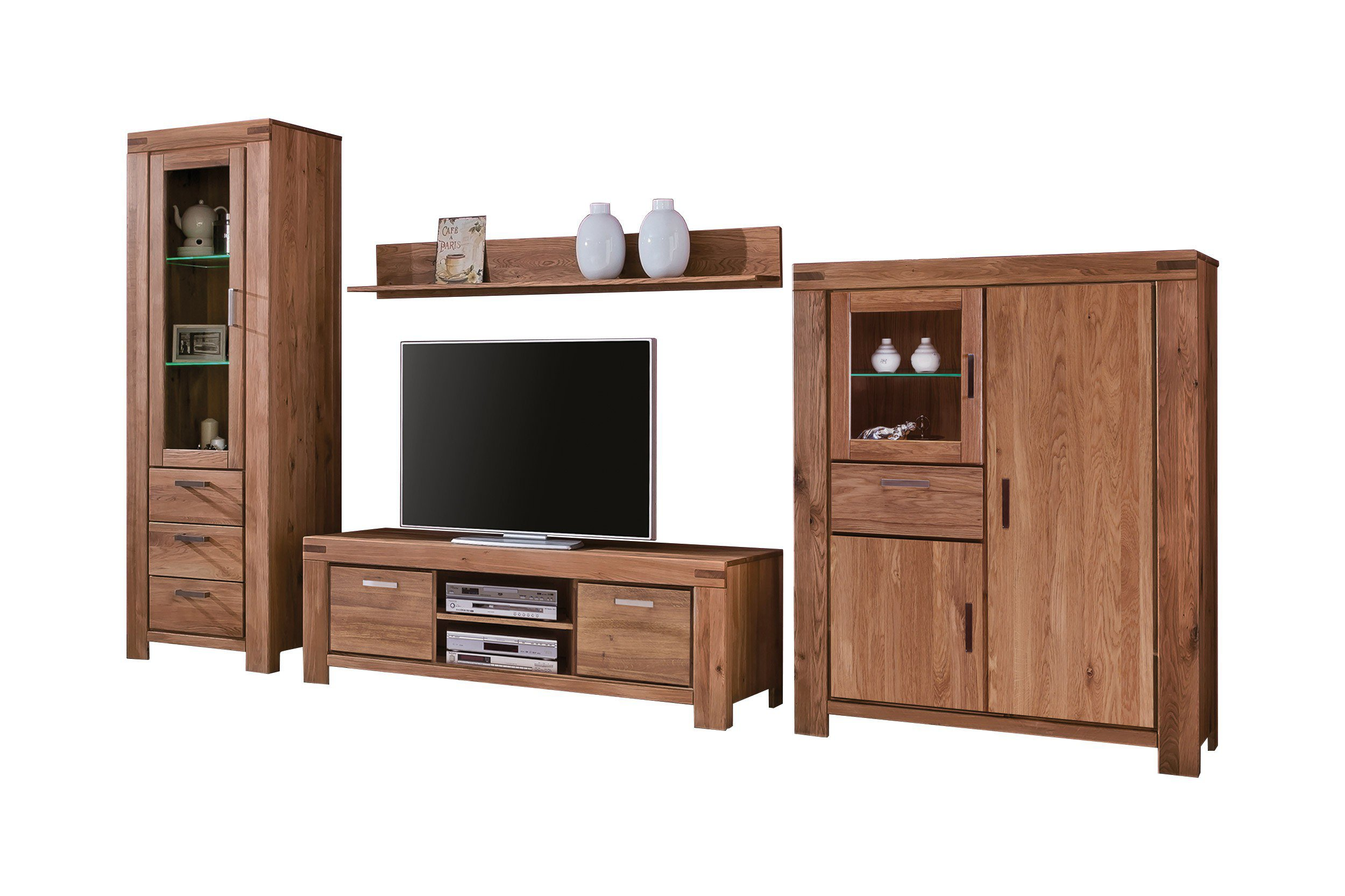 elfo m bel wohnwand kira wildeiche massiv m bel letz ihr online shop. Black Bedroom Furniture Sets. Home Design Ideas
