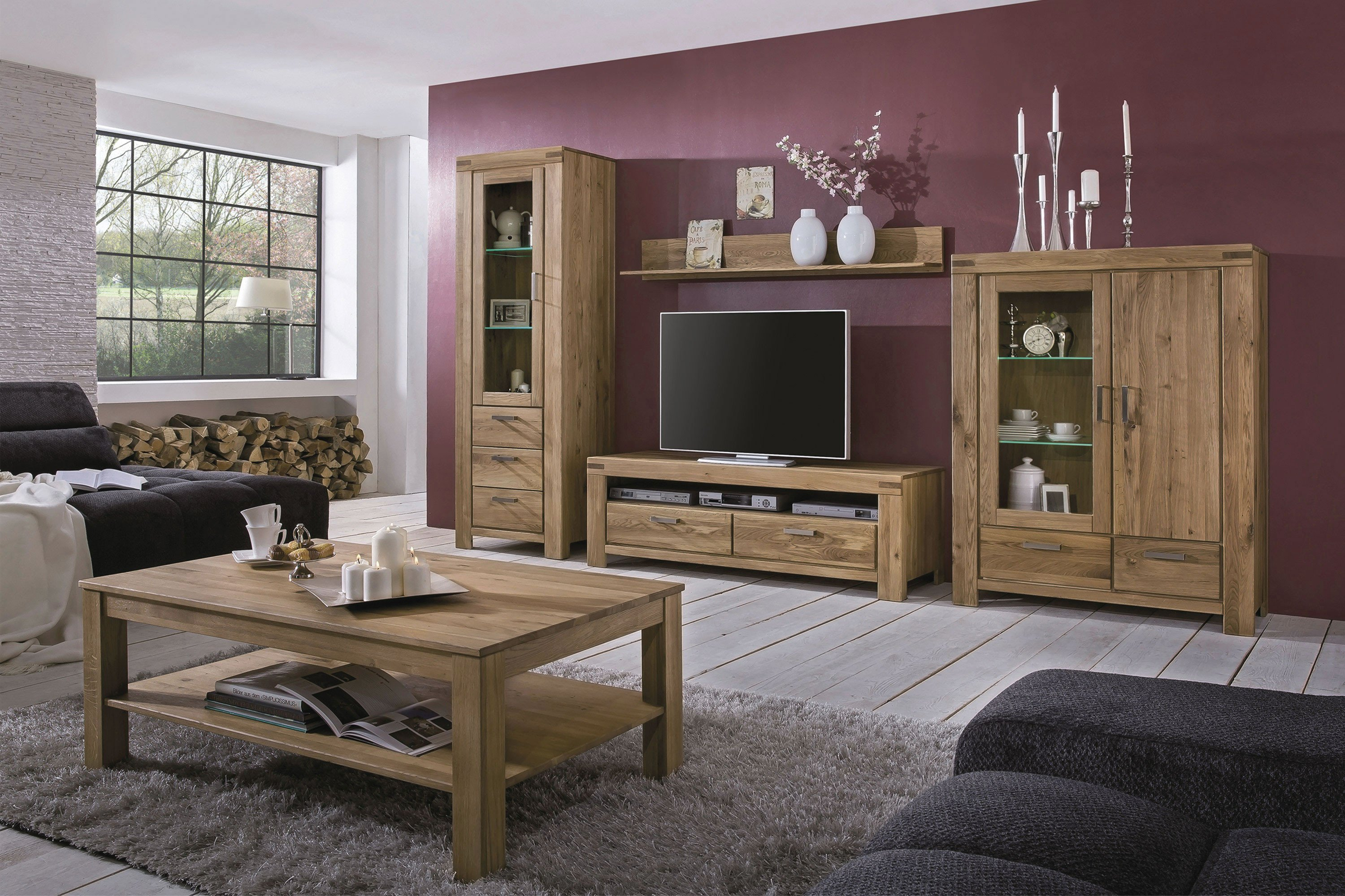 elfo m bel wohnwand kira ge lte wildeiche m bel letz ihr online shop. Black Bedroom Furniture Sets. Home Design Ideas