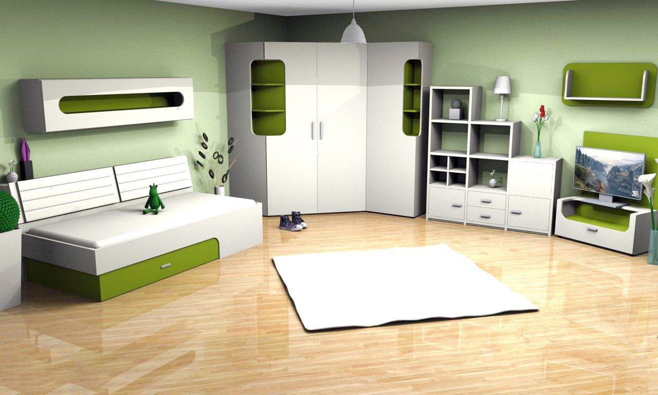 rudolf max i loop jugendzimmer creme gr n m bel letz ihr online shop. Black Bedroom Furniture Sets. Home Design Ideas
