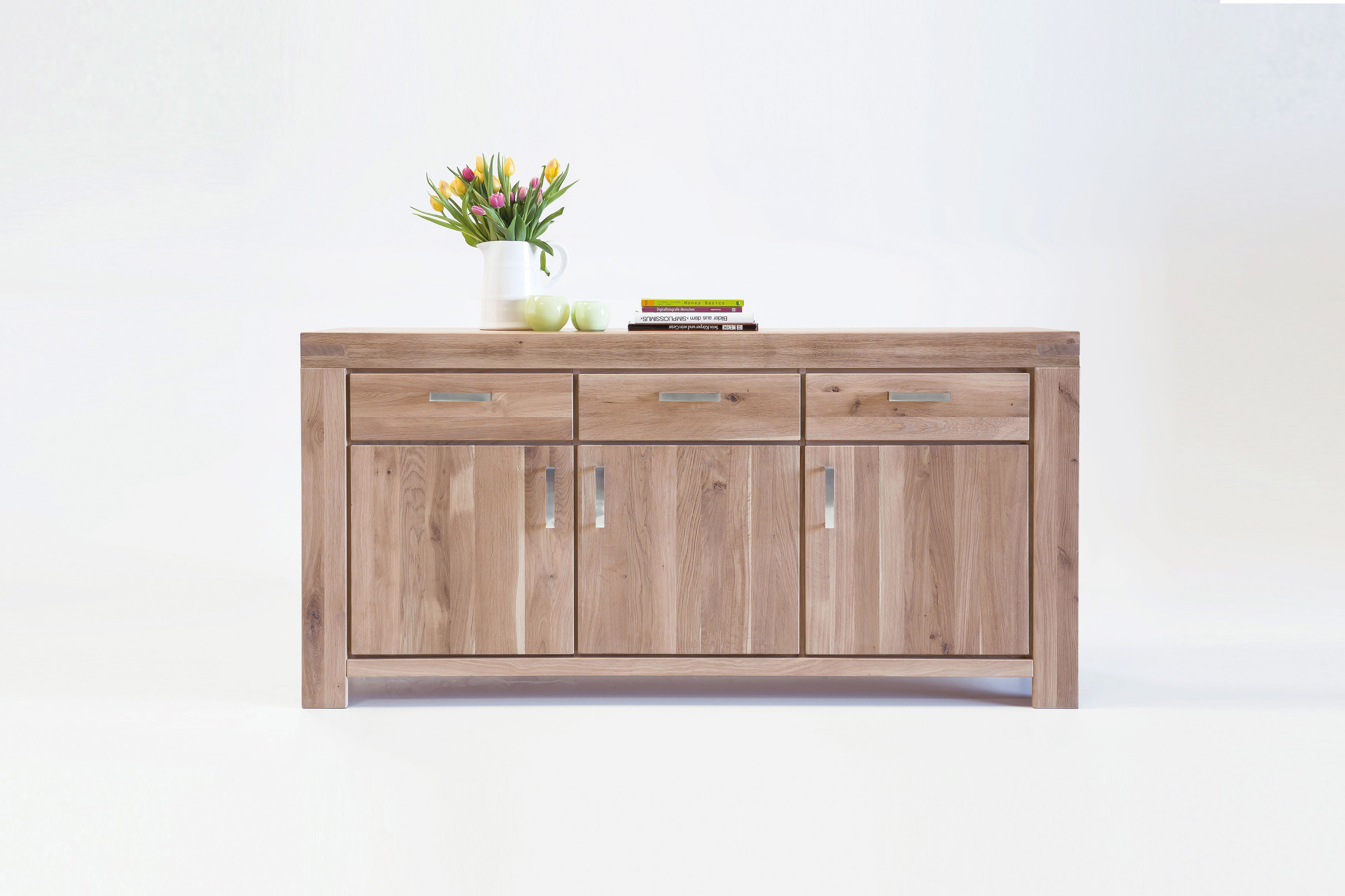 elfo m bel sideboard kira massive wildeiche bianco. Black Bedroom Furniture Sets. Home Design Ideas