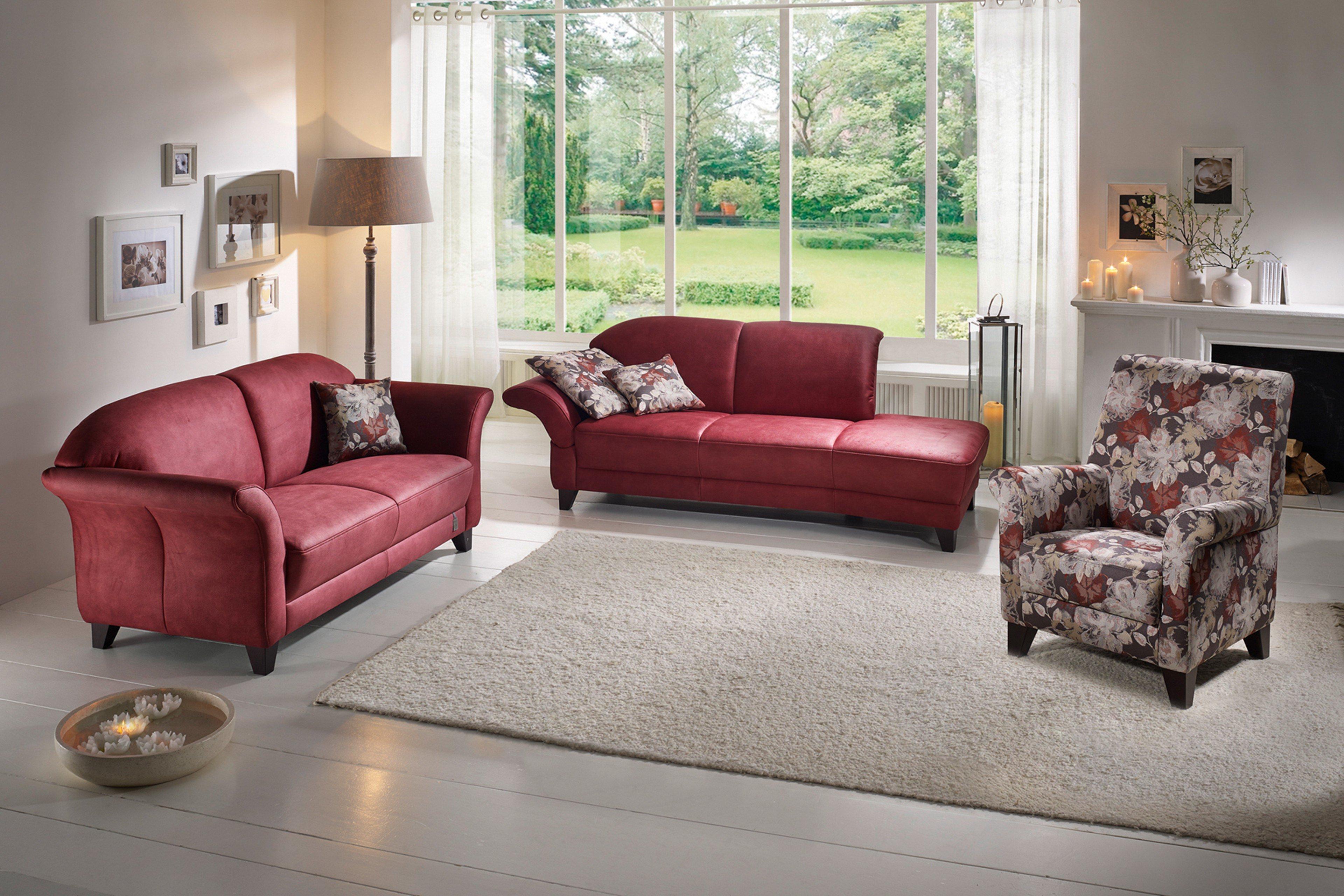 ponsel celano polstergarnitur rot m bel letz ihr online shop. Black Bedroom Furniture Sets. Home Design Ideas