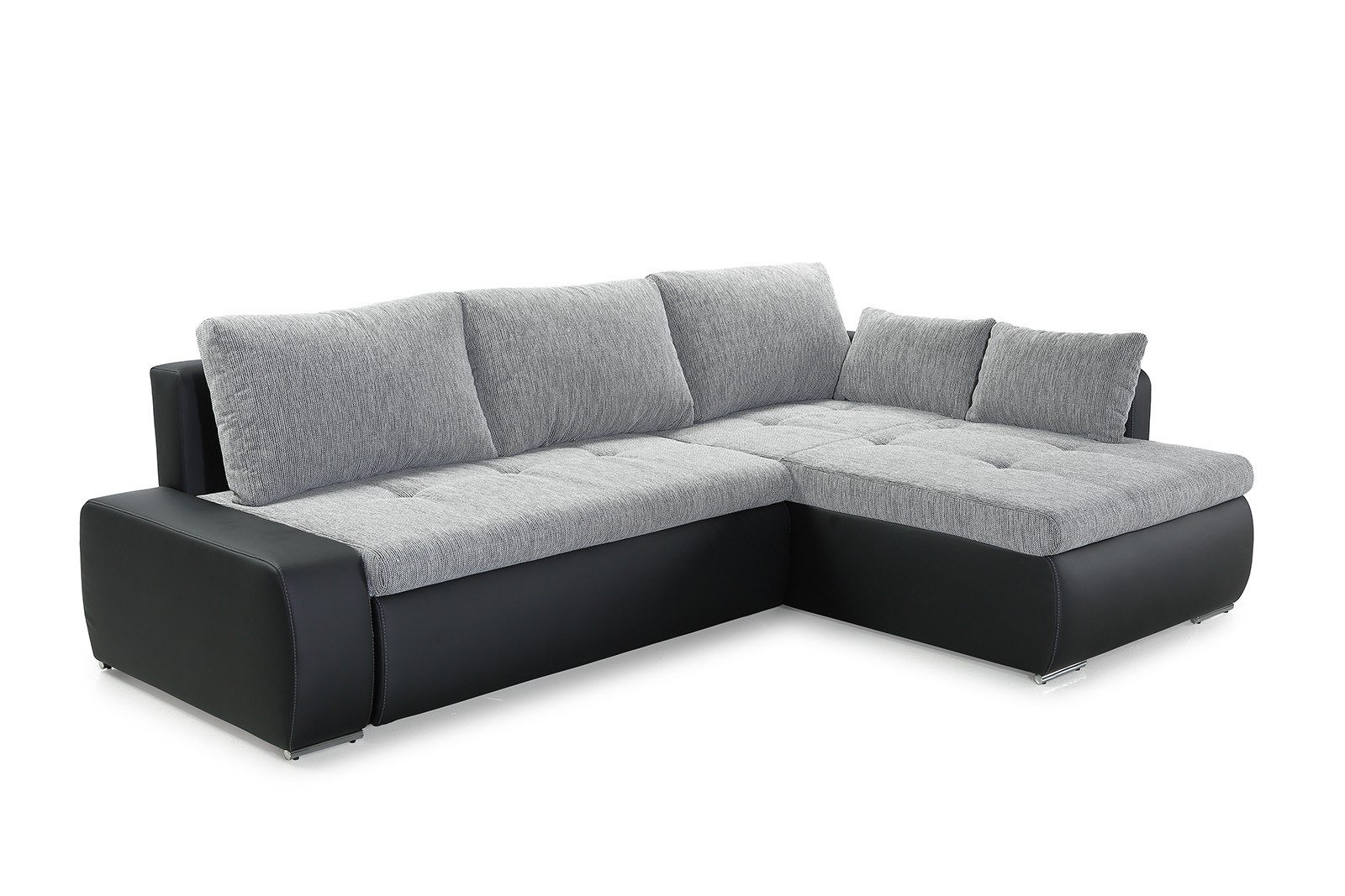 jockenh fer amberg ecksofa grau schwarz m bel letz ihr online shop. Black Bedroom Furniture Sets. Home Design Ideas