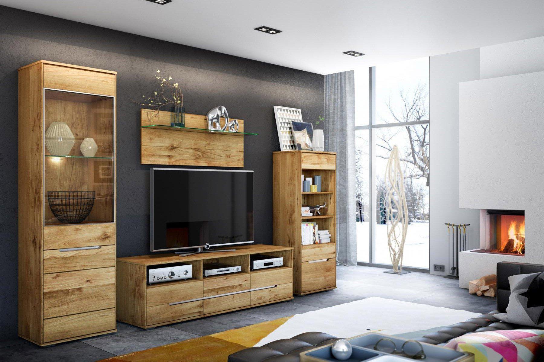 elfo m bel wohnwand lissy wildeiche ge lt m bel letz. Black Bedroom Furniture Sets. Home Design Ideas