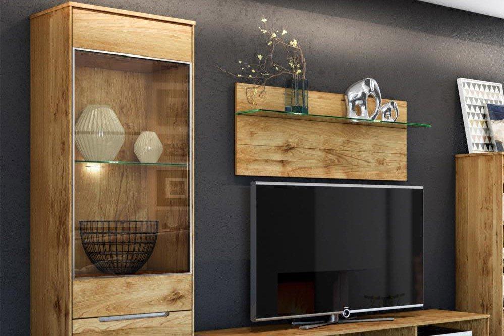 elfo m bel wohnwand lissy wildeiche ge lt m bel letz ihr online shop. Black Bedroom Furniture Sets. Home Design Ideas