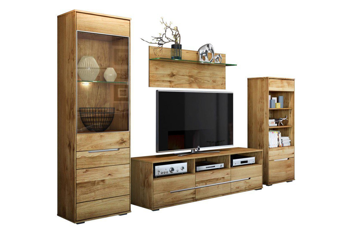 elfo m bel wohnwand lissy wildeiche massive wildeiche ge lt m bel letz ihr online shop. Black Bedroom Furniture Sets. Home Design Ideas